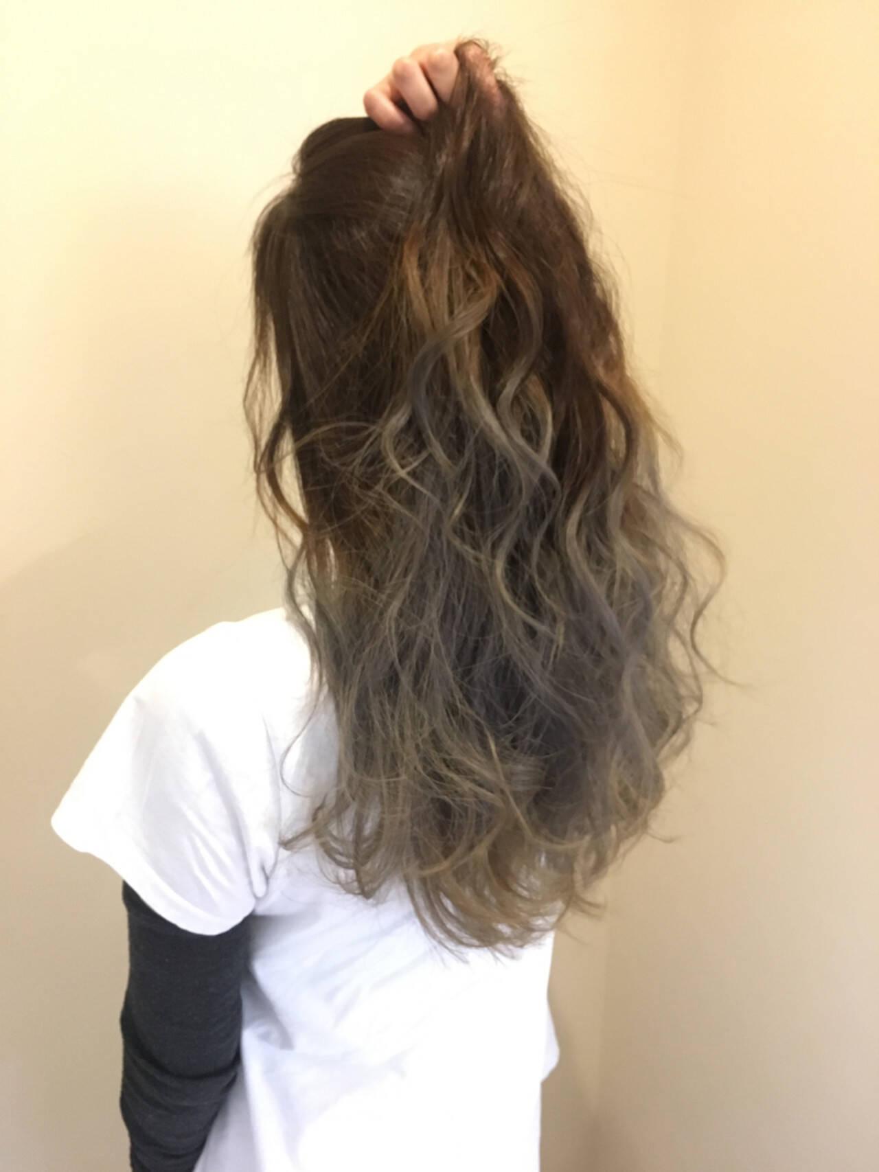 エレガント 透明感 グラデーションカラー 上品ヘアスタイルや髪型の写真・画像