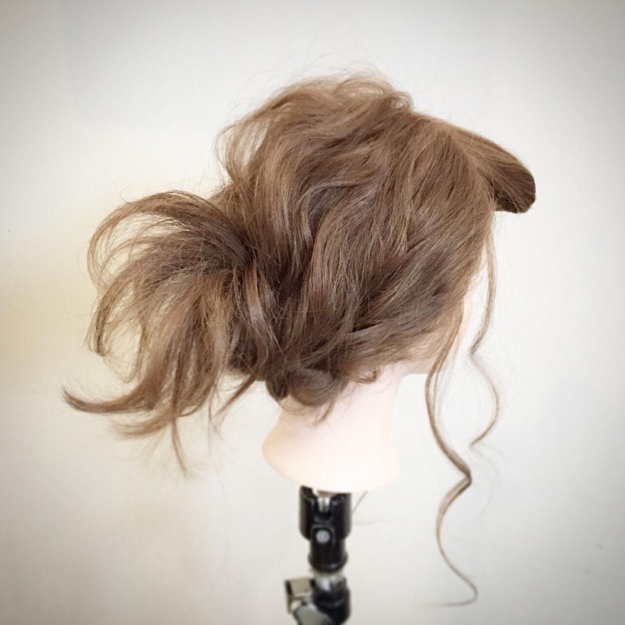 逆りんぱ セミロング 簡単ヘアアレンジ 大人かわいいヘアスタイルや髪型の写真・画像