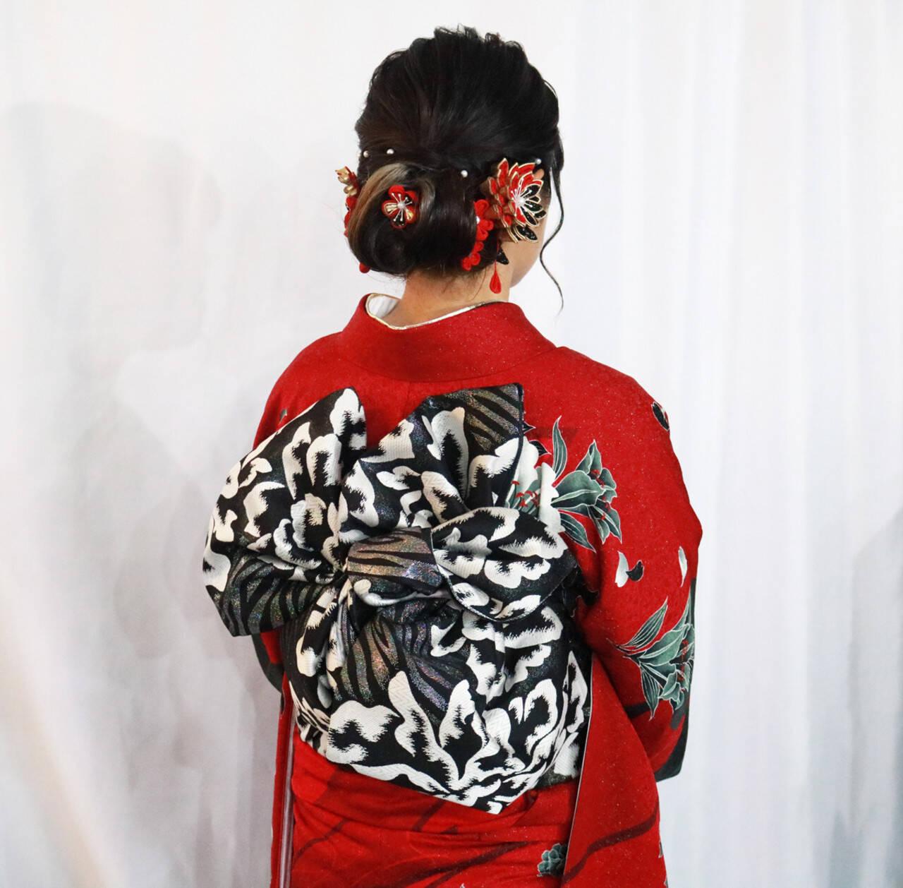 ヘアセット 振袖ヘア 成人式ヘア ミディアムヘアスタイルや髪型の写真・画像
