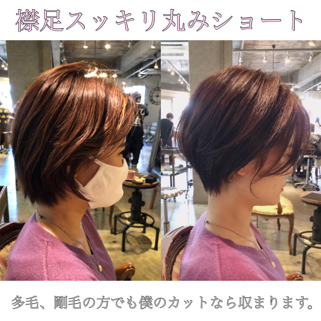 ミニボブ フェミニン ベリーショート 切りっぱなしボブヘアスタイルや髪型の写真・画像