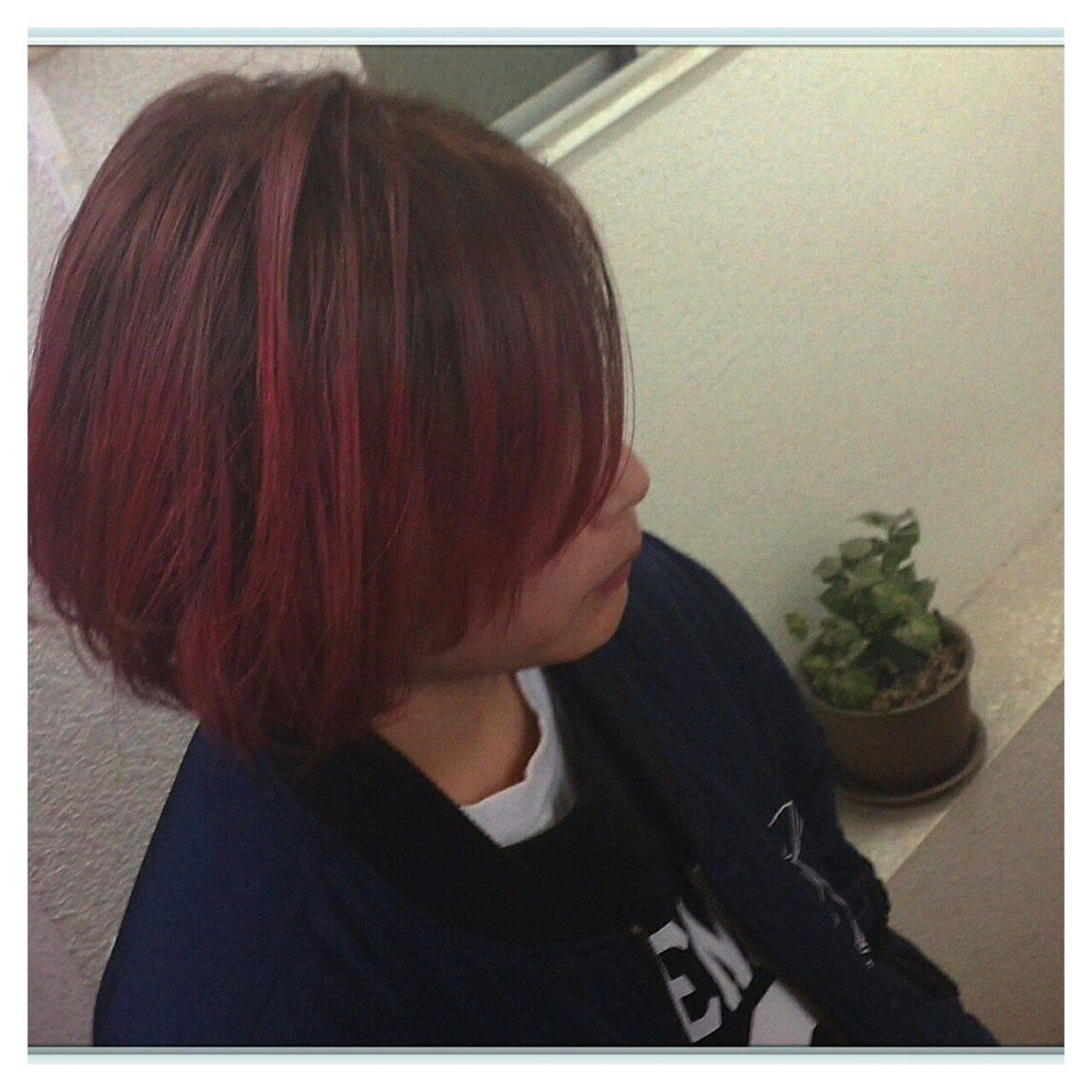 ショート グラデーションカラー カラーバターヘアスタイルや髪型の写真・画像
