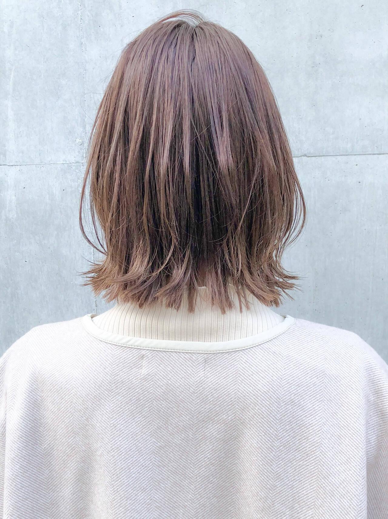 切りっぱなしボブ 外ハネボブ ボブ ウルフカットヘアスタイルや髪型の写真・画像