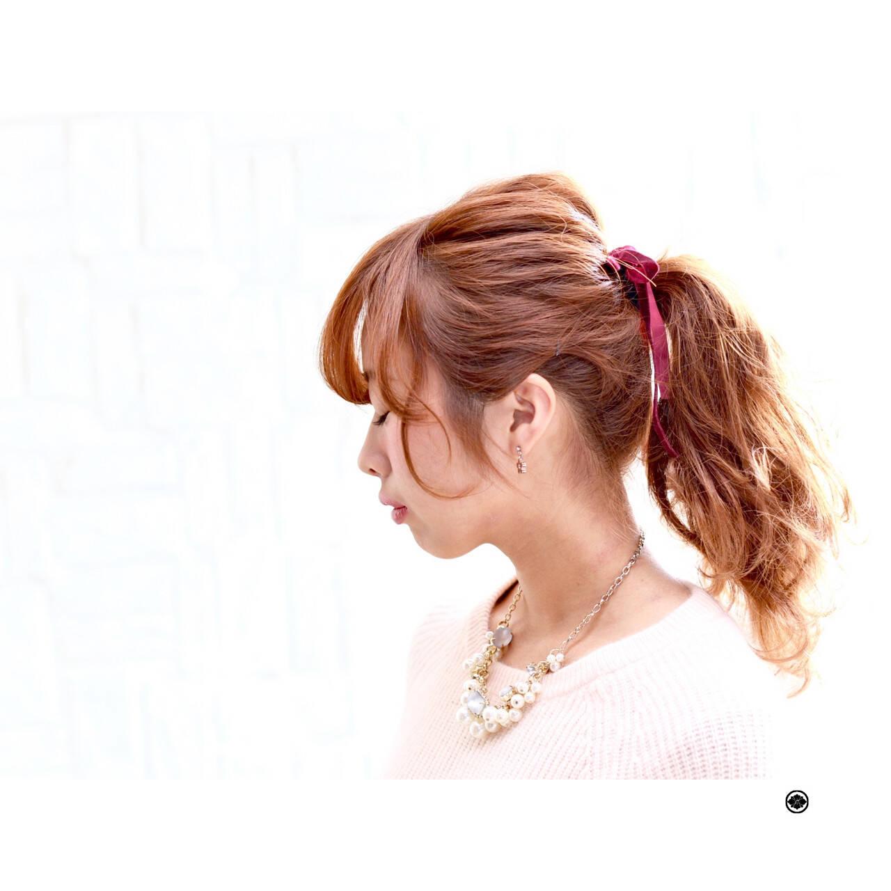 簡単ヘアアレンジ フェミニン ロング ヘアアレンジヘアスタイルや髪型の写真・画像