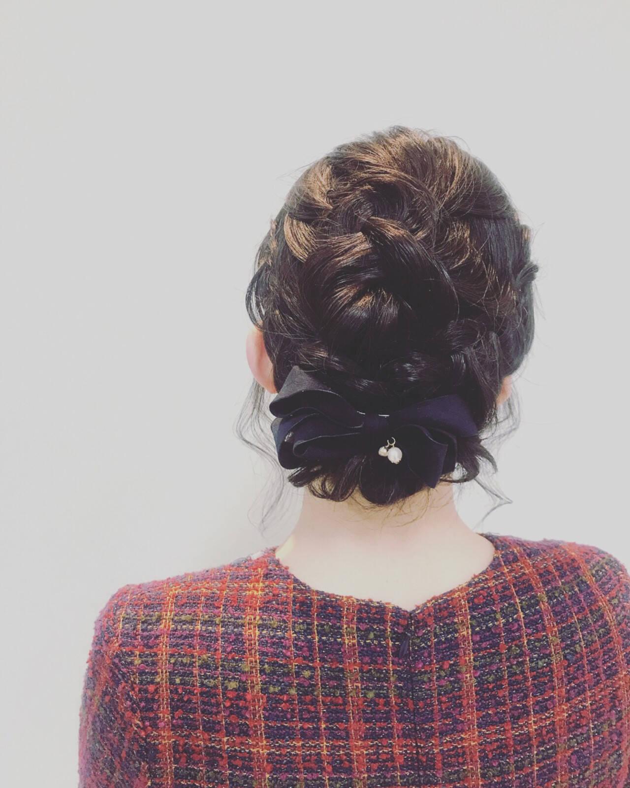デート ナチュラル 謝恩会 結婚式ヘアスタイルや髪型の写真・画像