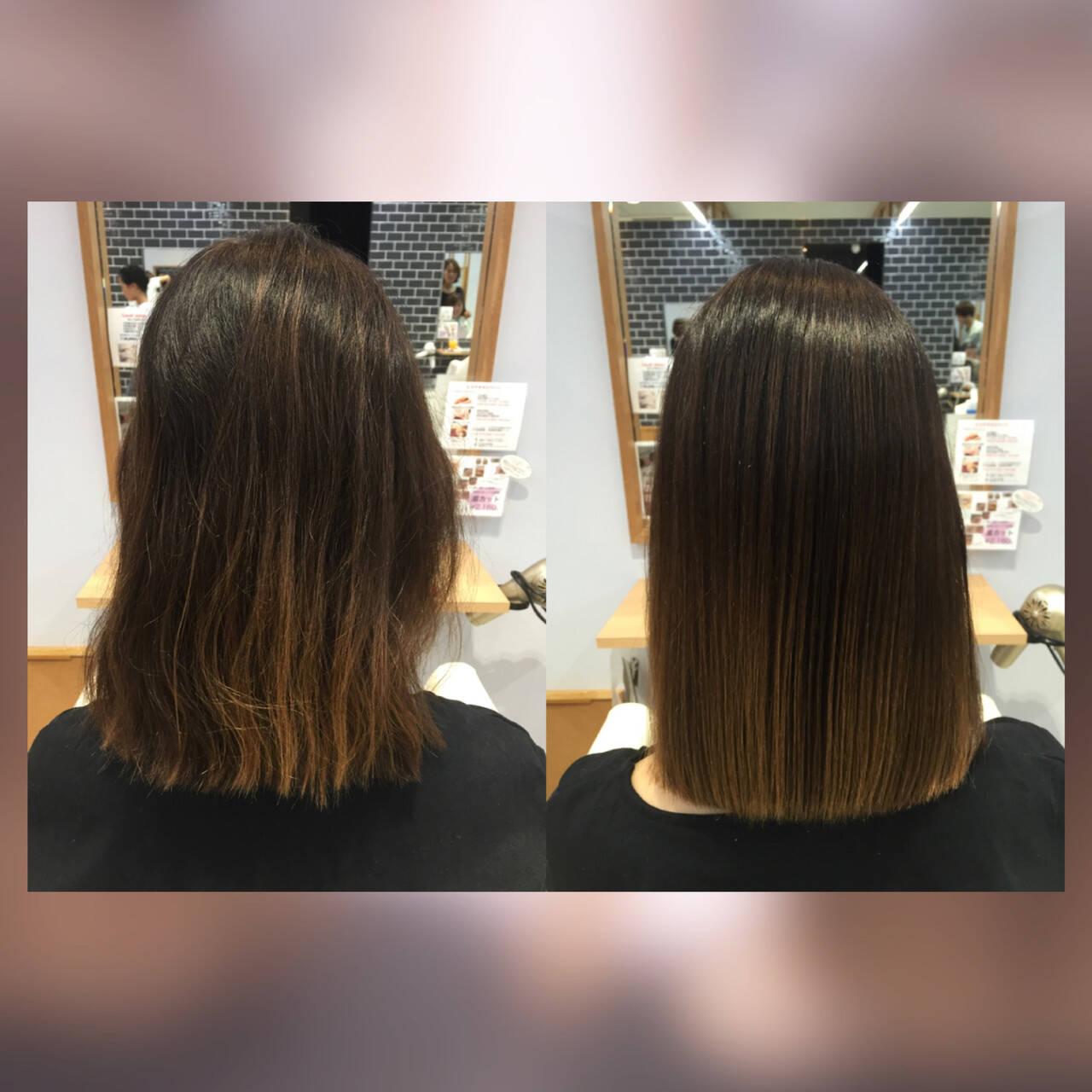 髪質改善カラー モテ髪 トリートメント 髪質改善トリートメントヘアスタイルや髪型の写真・画像