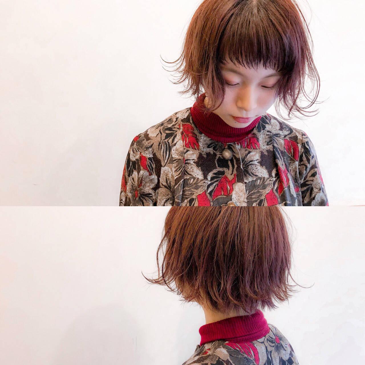 ピンク レッド 簡単ヘアアレンジ ヘアアレンジヘアスタイルや髪型の写真・画像