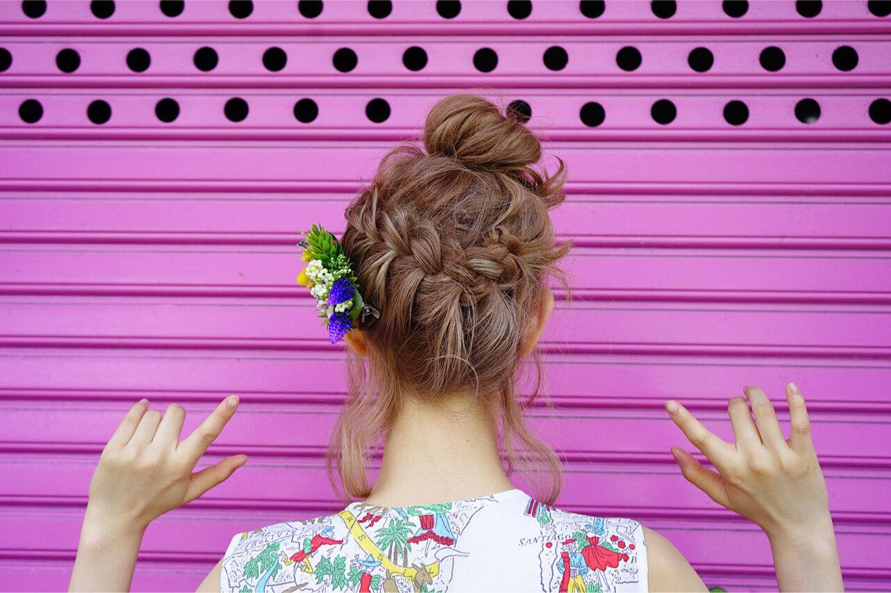 ボブ 外国人風 お団子 ヘアアレンジヘアスタイルや髪型の写真・画像