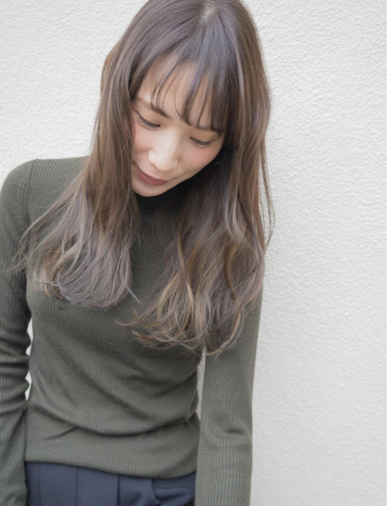 ハイライト ナチュラル グラデーションカラー 外国人風ヘアスタイルや髪型の写真・画像
