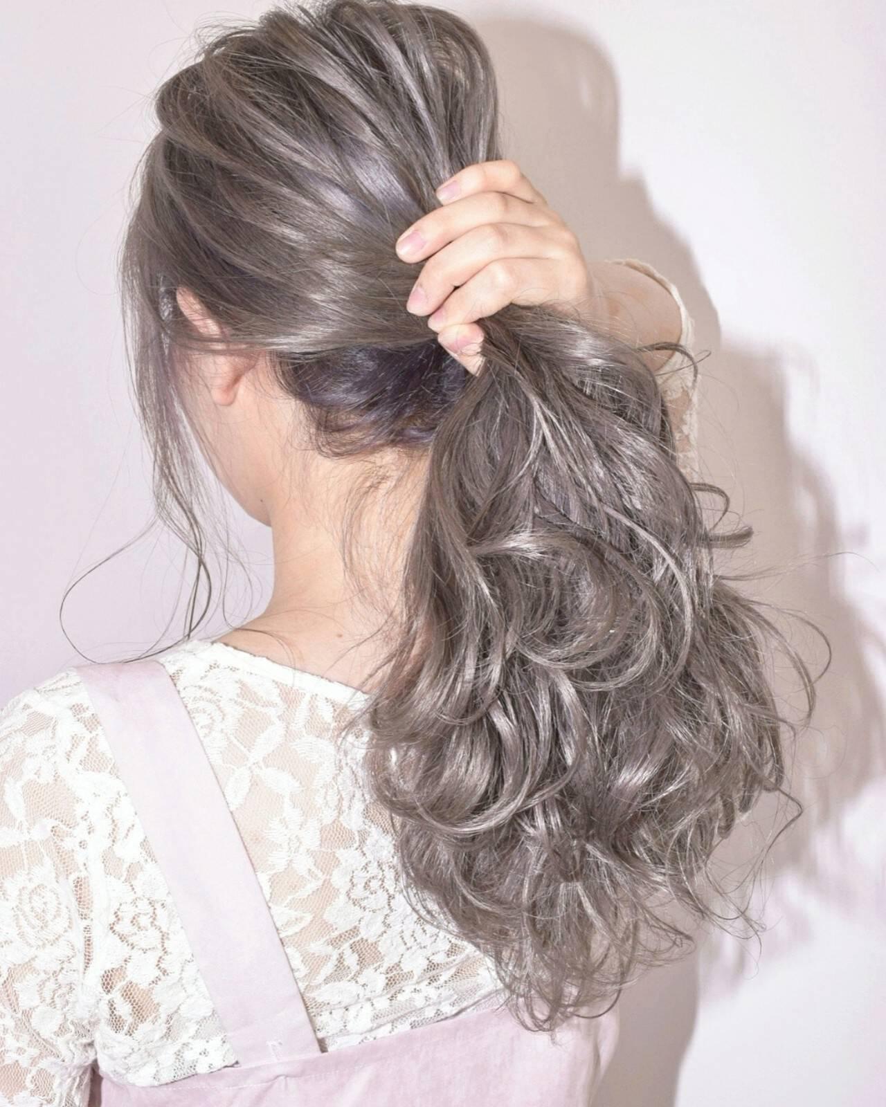 秋 デート ヘアアレンジ 透明感ヘアスタイルや髪型の写真・画像