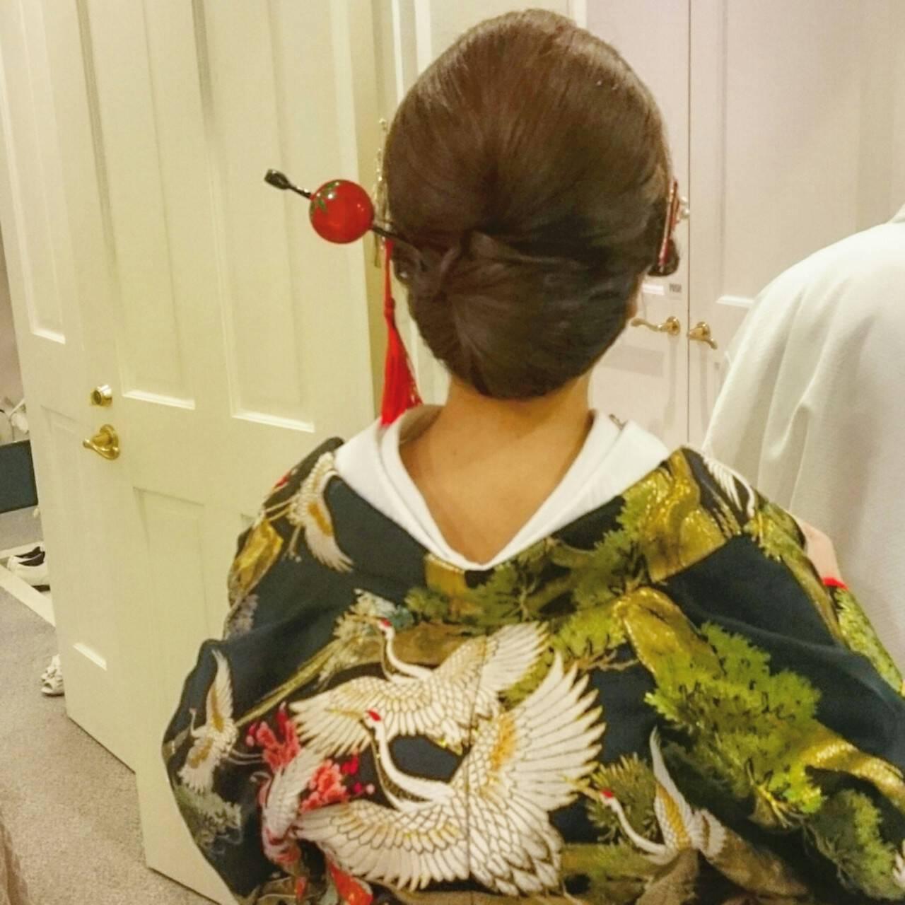 和装 ブライダル ロング 着物ヘアスタイルや髪型の写真・画像