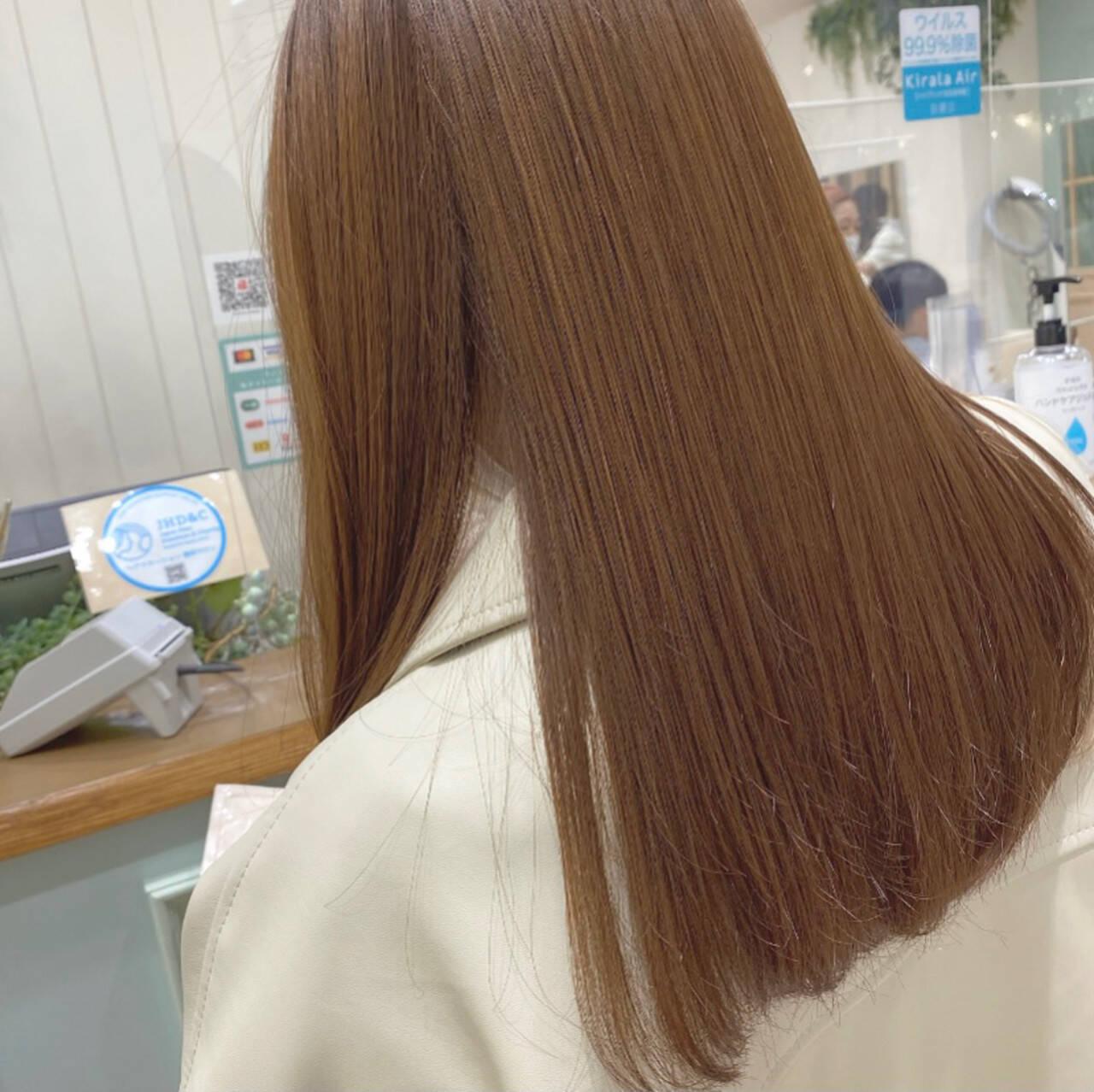 モテ髪 透け感ヘア トリートメント 髪質改善トリートメントヘアスタイルや髪型の写真・画像