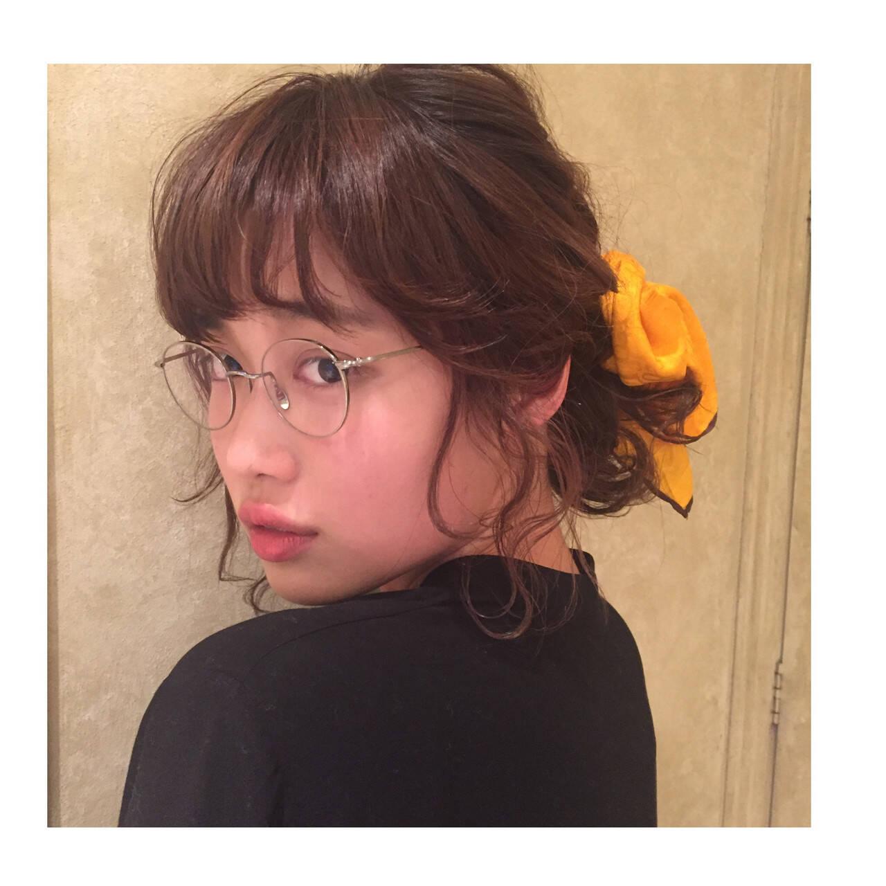 ロング ヘアアレンジ ゆるふわ ショートヘアスタイルや髪型の写真・画像