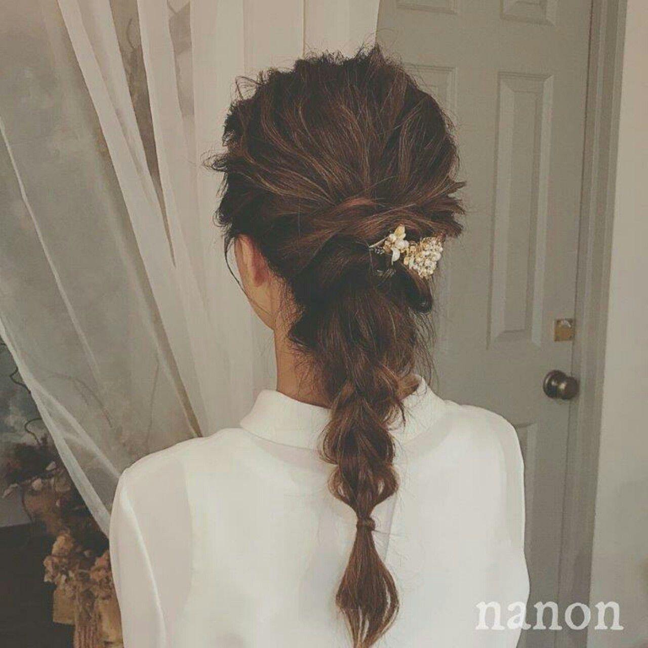 外国人風 ロング 秋 ヘアアレンジヘアスタイルや髪型の写真・画像