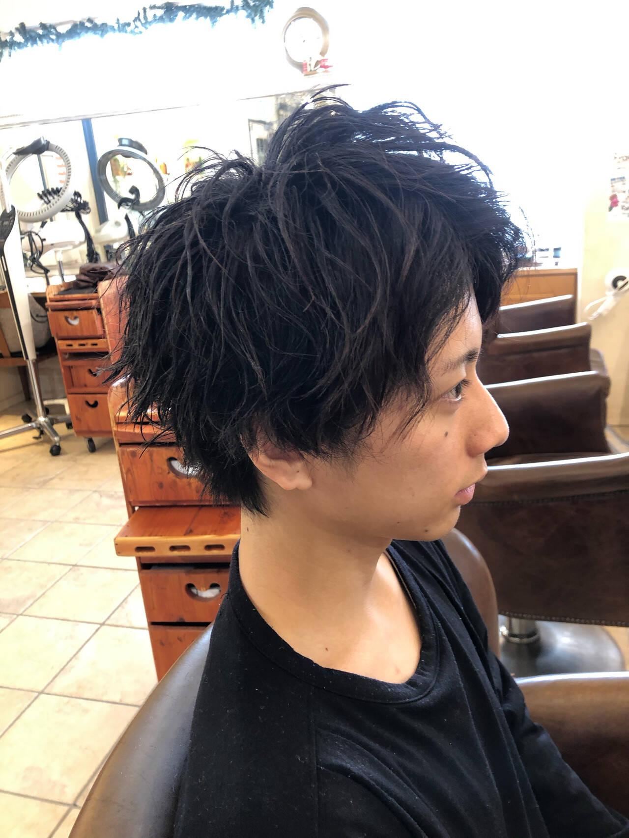 メンズ メンズヘア メンズカット メンズショートヘアスタイルや髪型の写真・画像