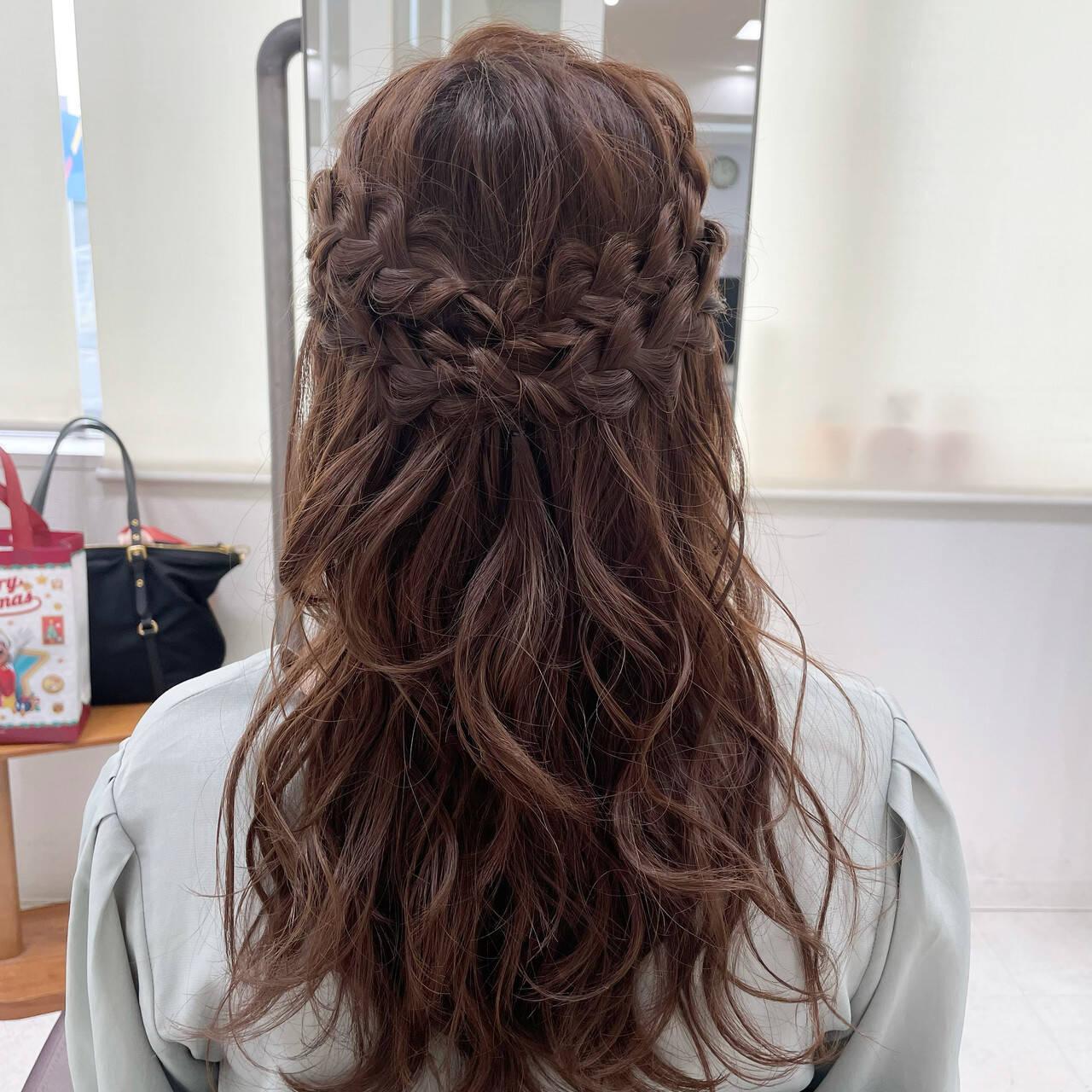 ヘアアレンジ フェミニン お呼ばれヘア 大人かわいいヘアスタイルや髪型の写真・画像