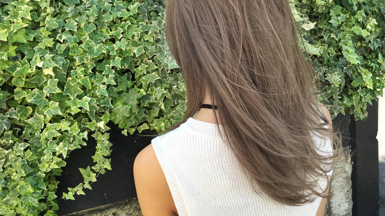 ヘアアレンジ アッシュ くせ毛風 ハイライトヘアスタイルや髪型の写真・画像