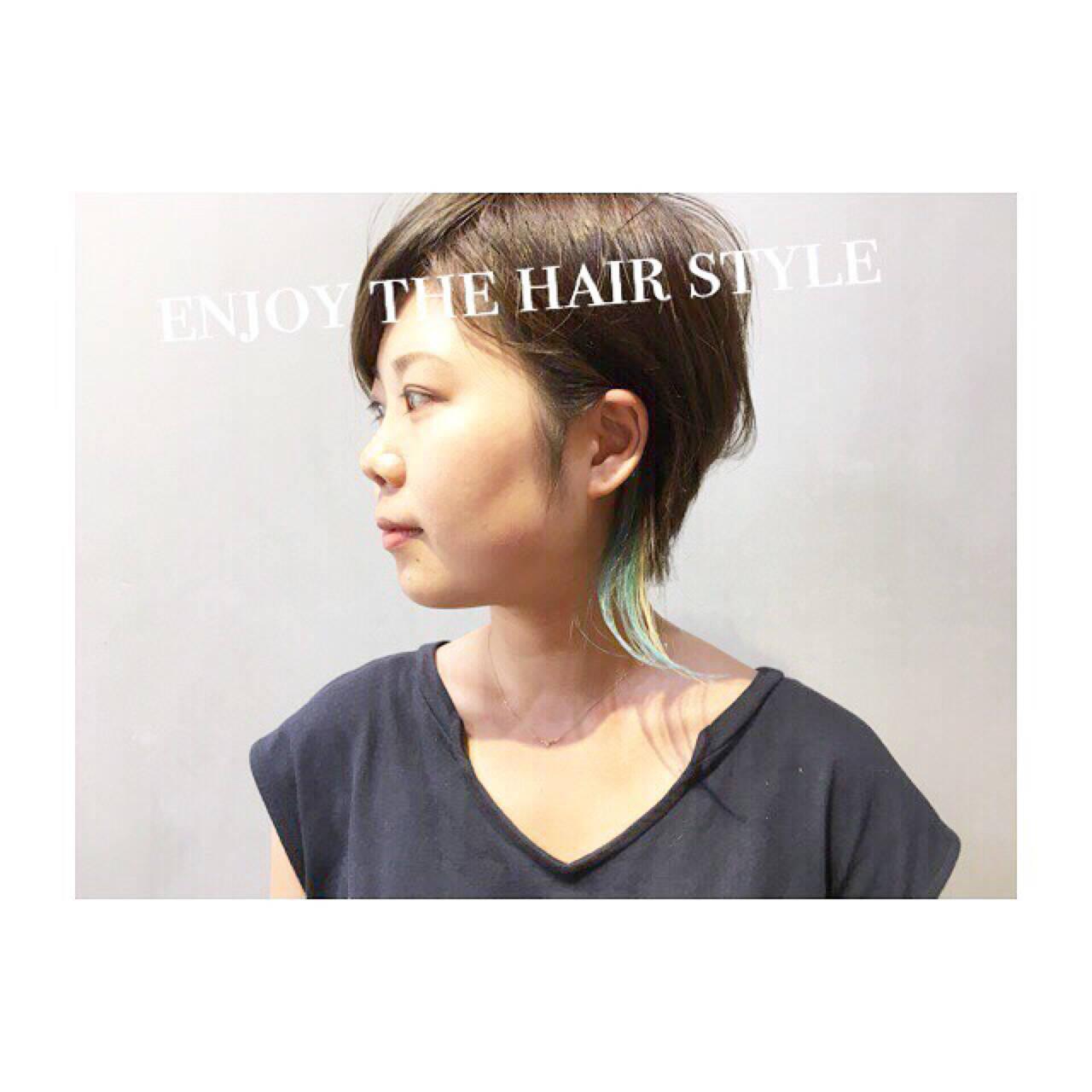 外国人風カラー ホワイトアッシュ ベージュ ダブルカラーヘアスタイルや髪型の写真・画像