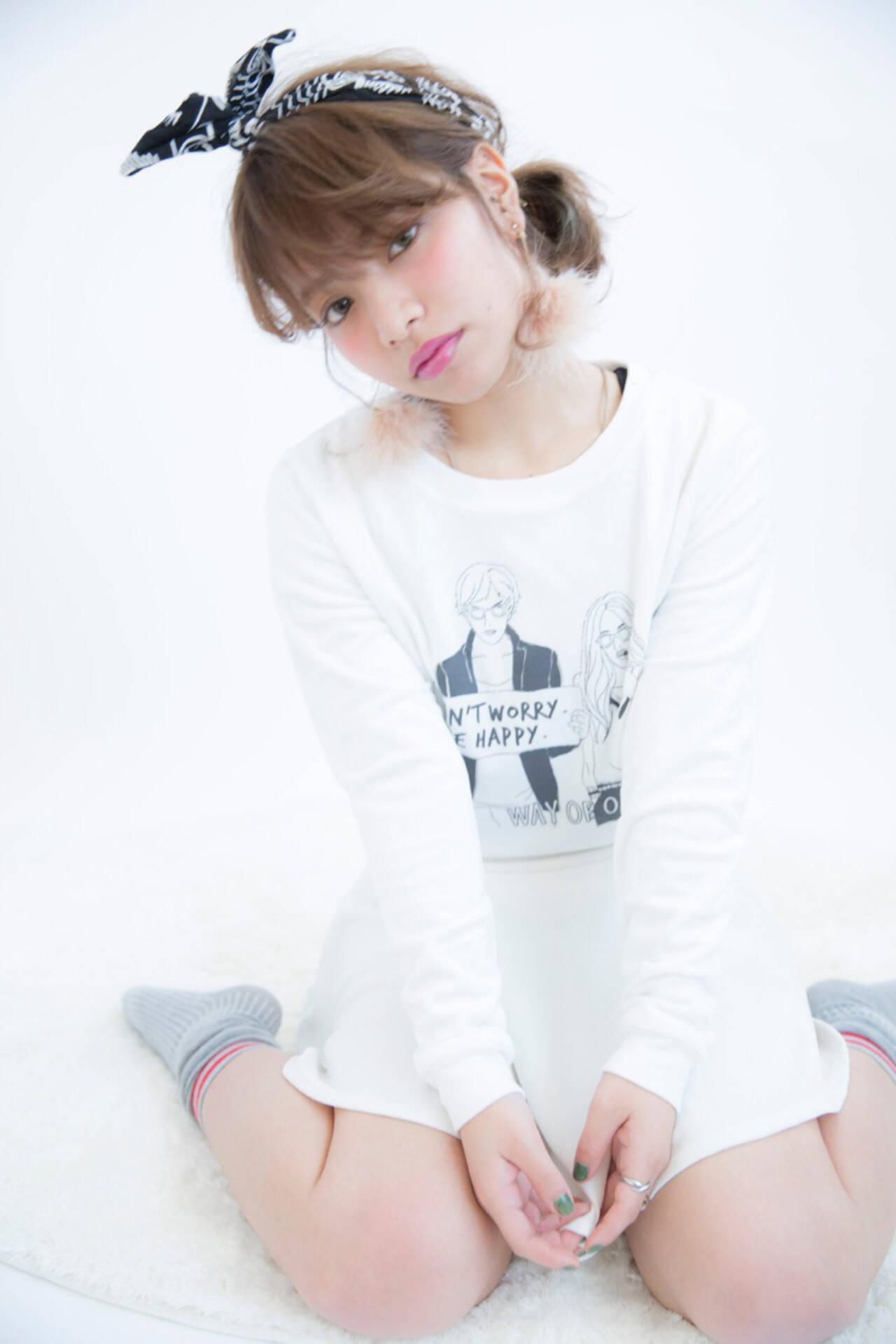 ショート 外国人風 ハイトーン ヘアアレンジヘアスタイルや髪型の写真・画像