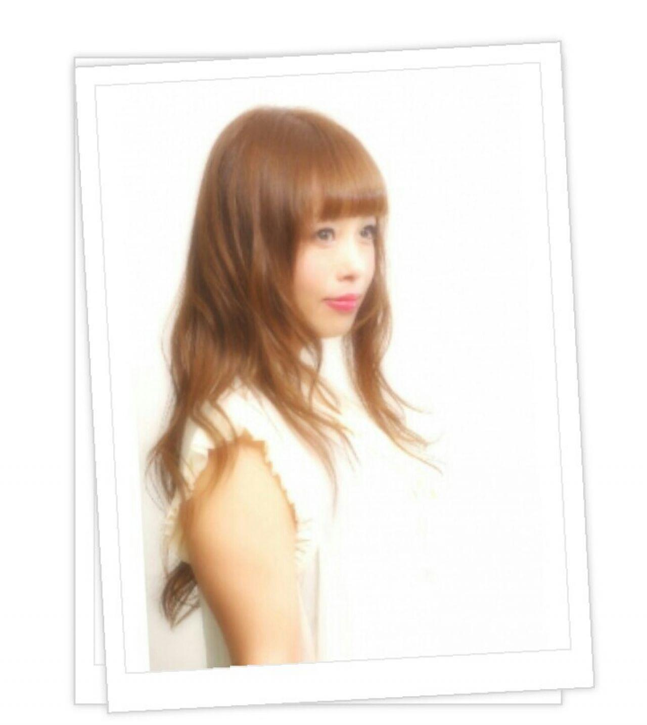 ゆるふわ 大人かわいい ロング フェミニンヘアスタイルや髪型の写真・画像