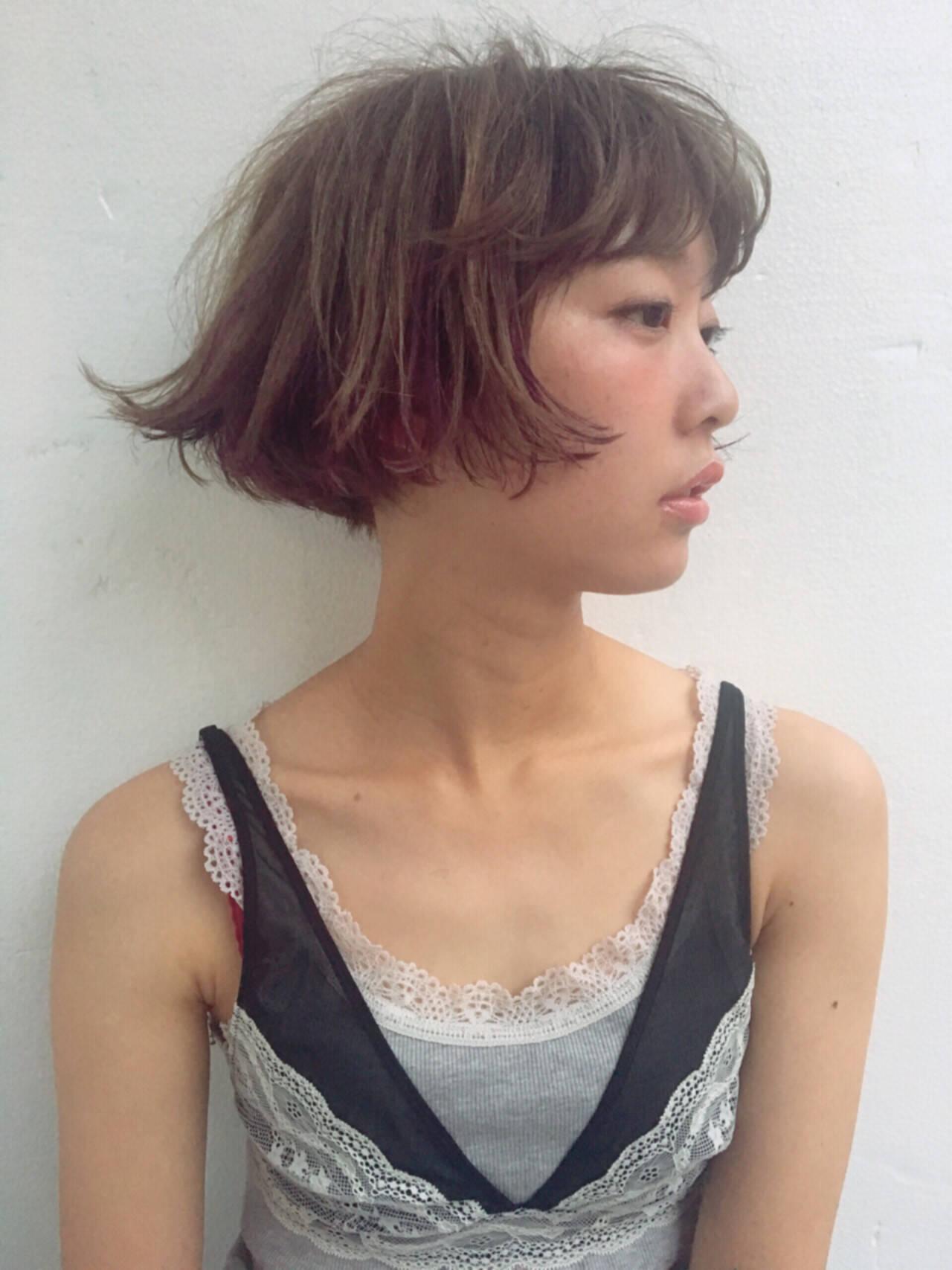 アッシュ ストリート ハイトーン ダブルカラーヘアスタイルや髪型の写真・画像