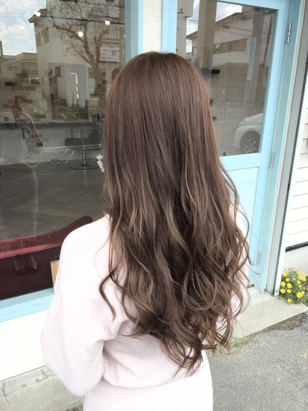グラデーションカラー ロング セクシー エレガントヘアスタイルや髪型の写真・画像
