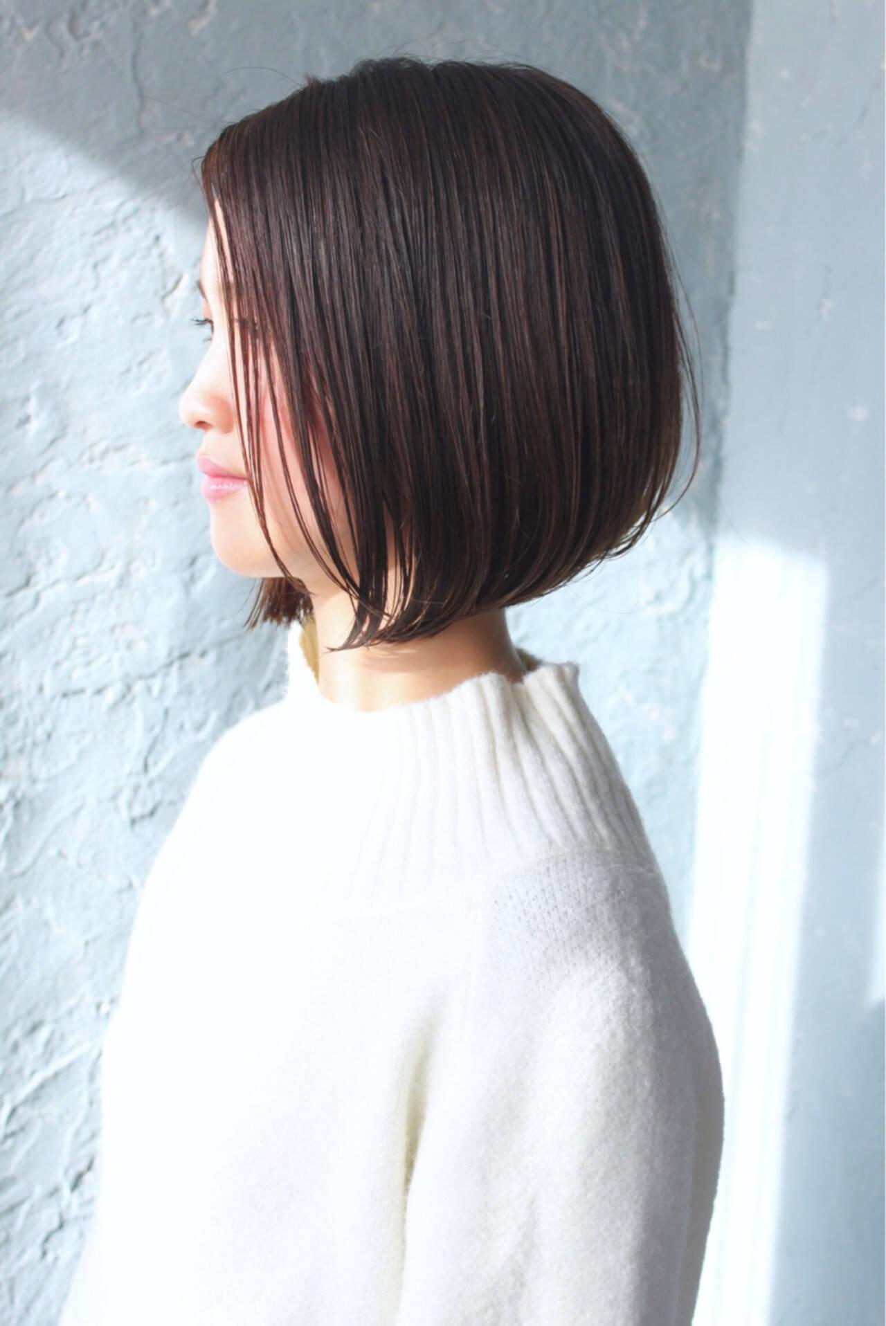 ボブ かっこいい 大人女子 リラックスヘアスタイルや髪型の写真・画像