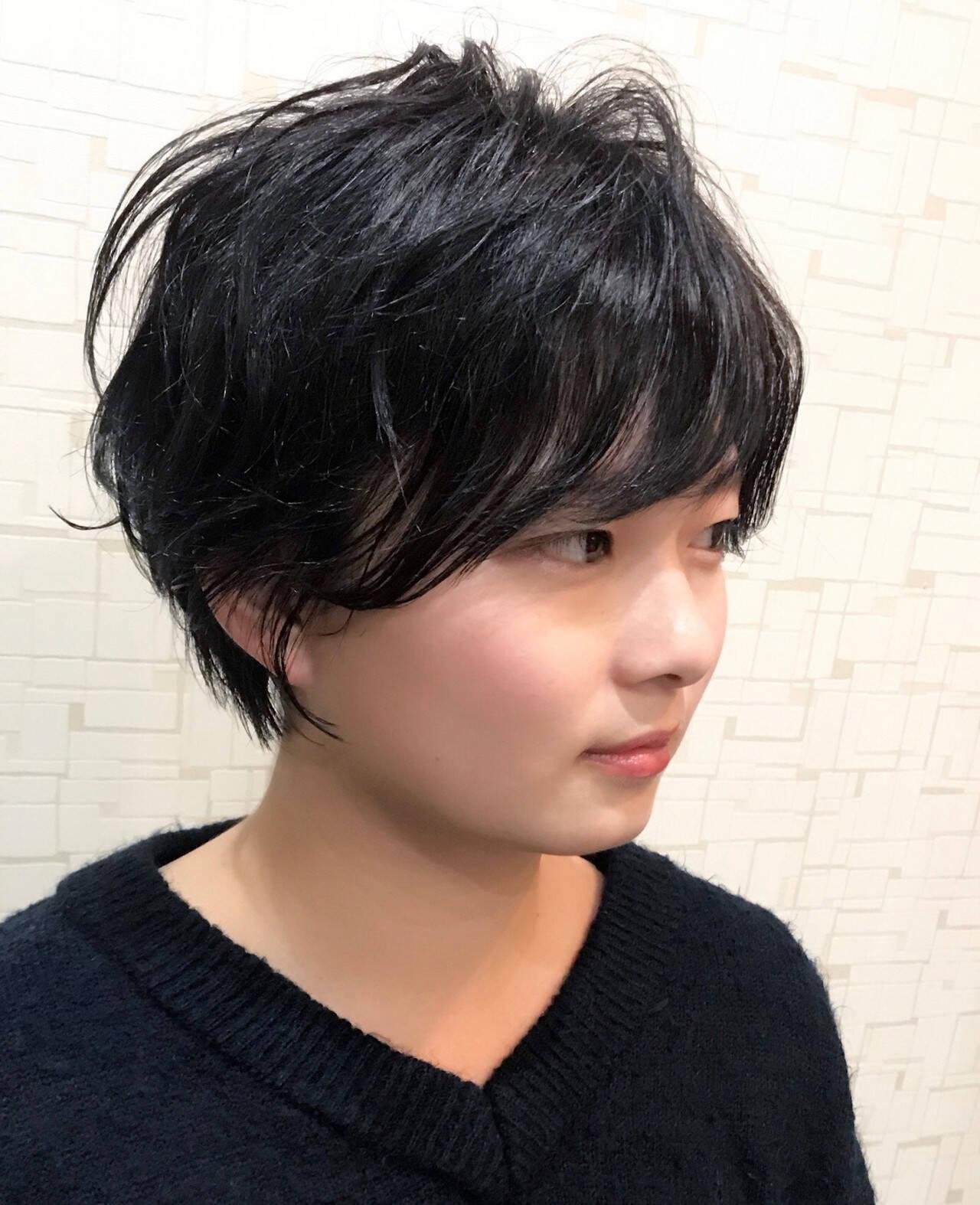 ショート ラフ ナチュラル かっこいいヘアスタイルや髪型の写真・画像