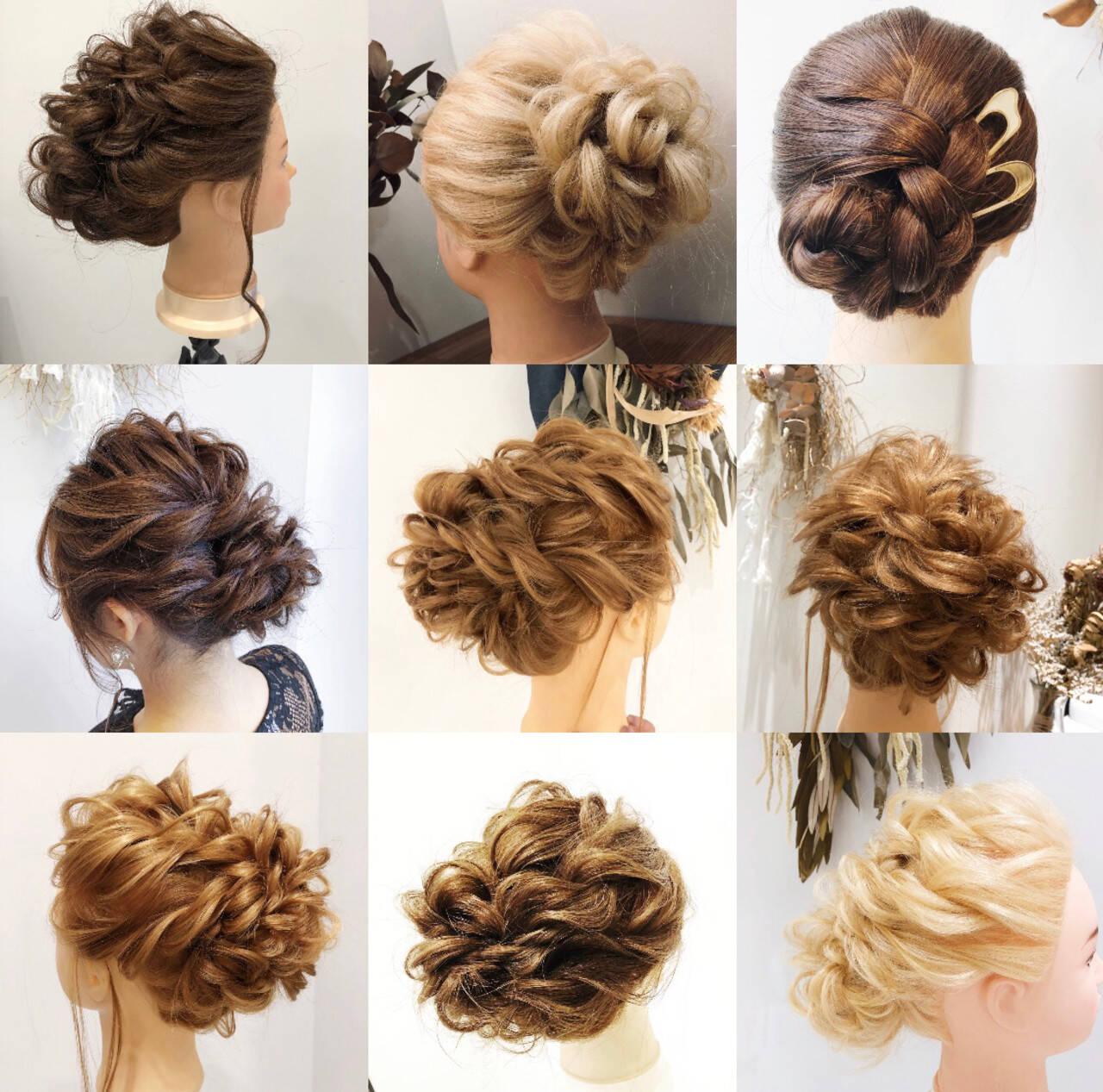 ヘアセット 簡単ヘアアレンジ ヘアアレンジ エレガントヘアスタイルや髪型の写真・画像