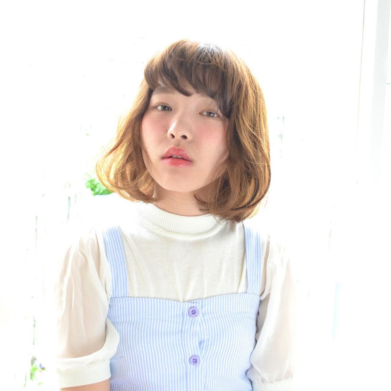 ピュア パーマ ナチュラル ラフヘアスタイルや髪型の写真・画像