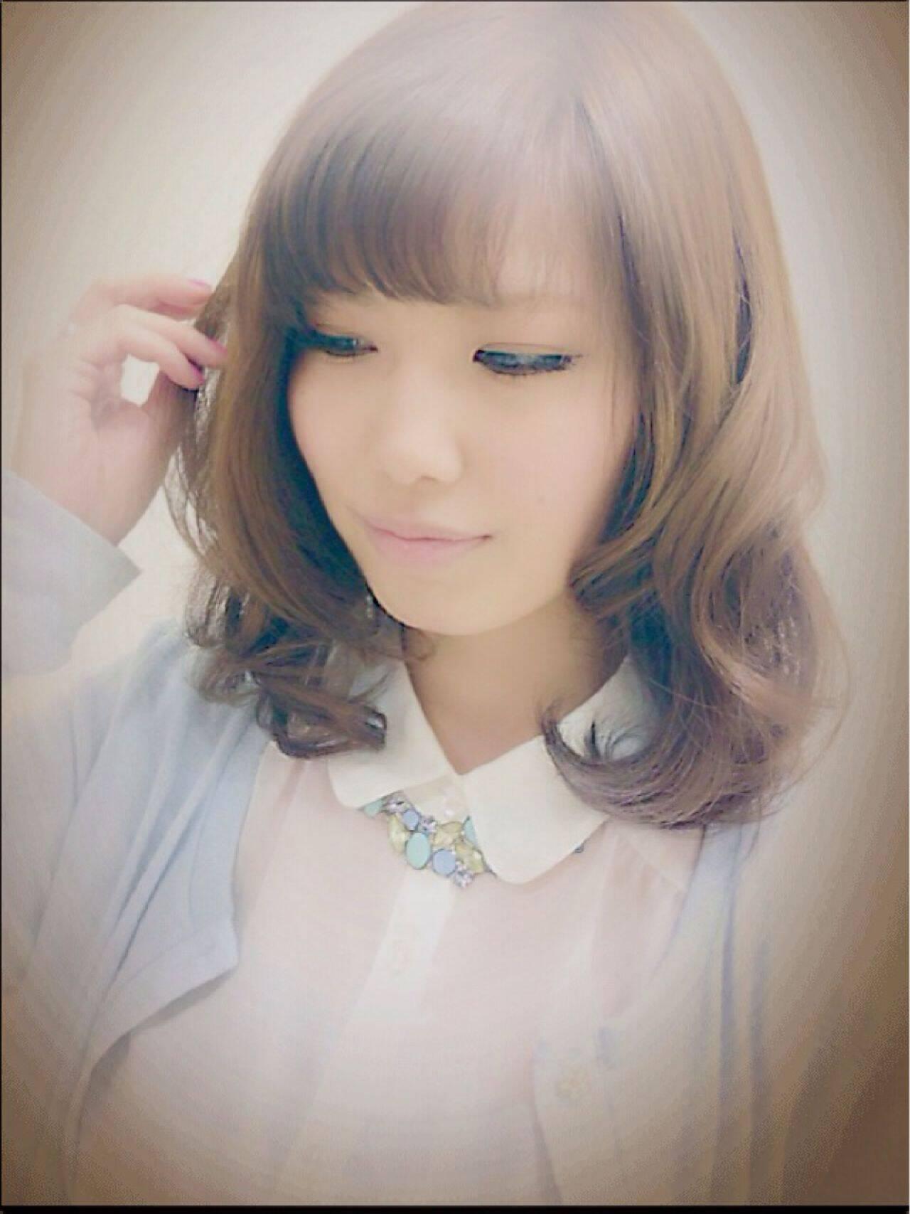 ミディアム コンサバ モテ髪 愛されヘアスタイルや髪型の写真・画像