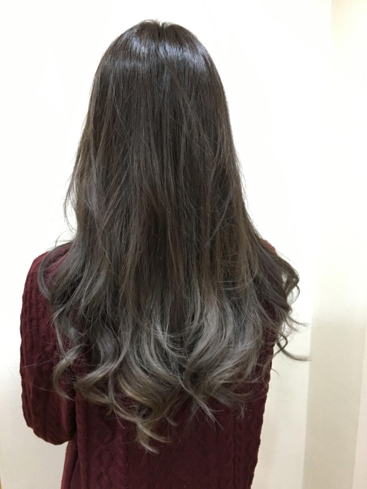 ストリート イルミナカラー グラデーションカラー ロングヘアスタイルや髪型の写真・画像