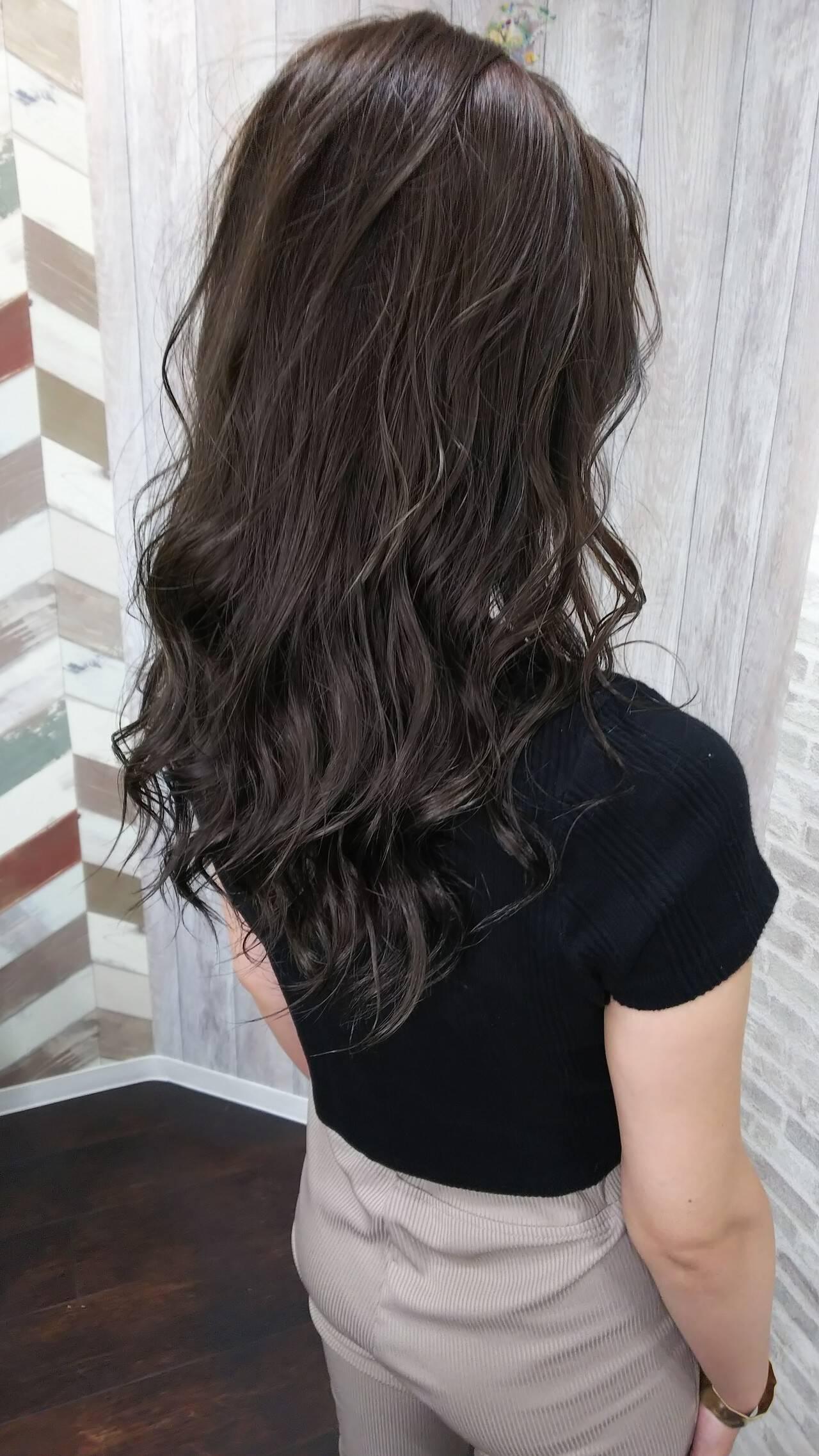 ダブルカラー 夏 フェミニン ヘアカラーヘアスタイルや髪型の写真・画像