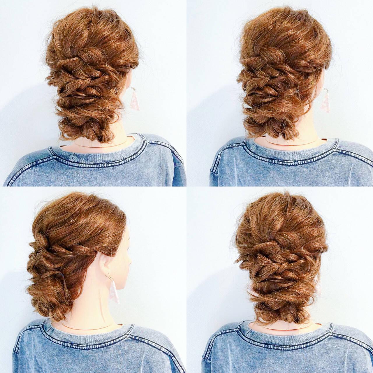 夏 ヘアアレンジ 涼しげ ロングヘアスタイルや髪型の写真・画像