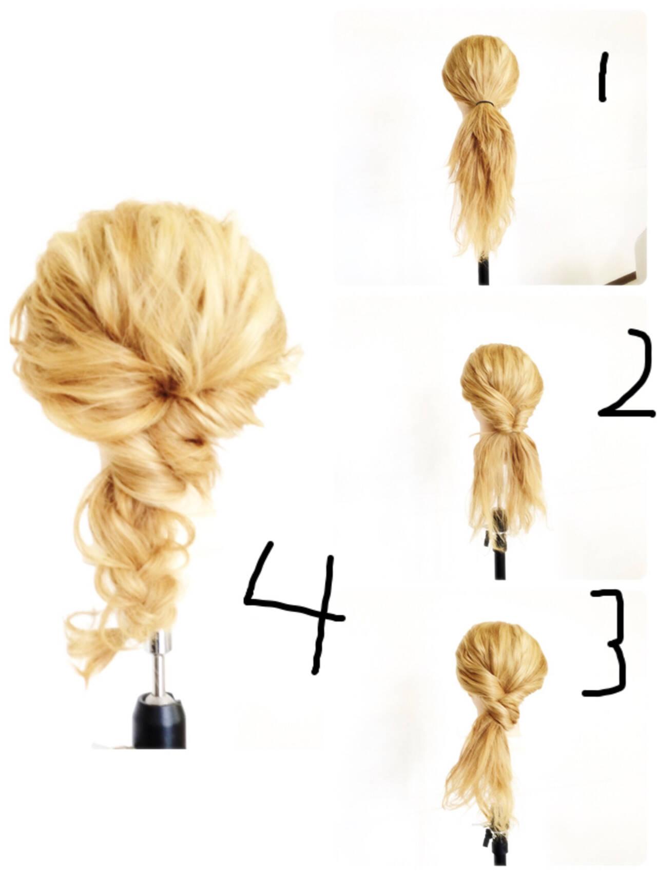セミロング 外国人風 簡単ヘアアレンジ ヘアアレンジヘアスタイルや髪型の写真・画像