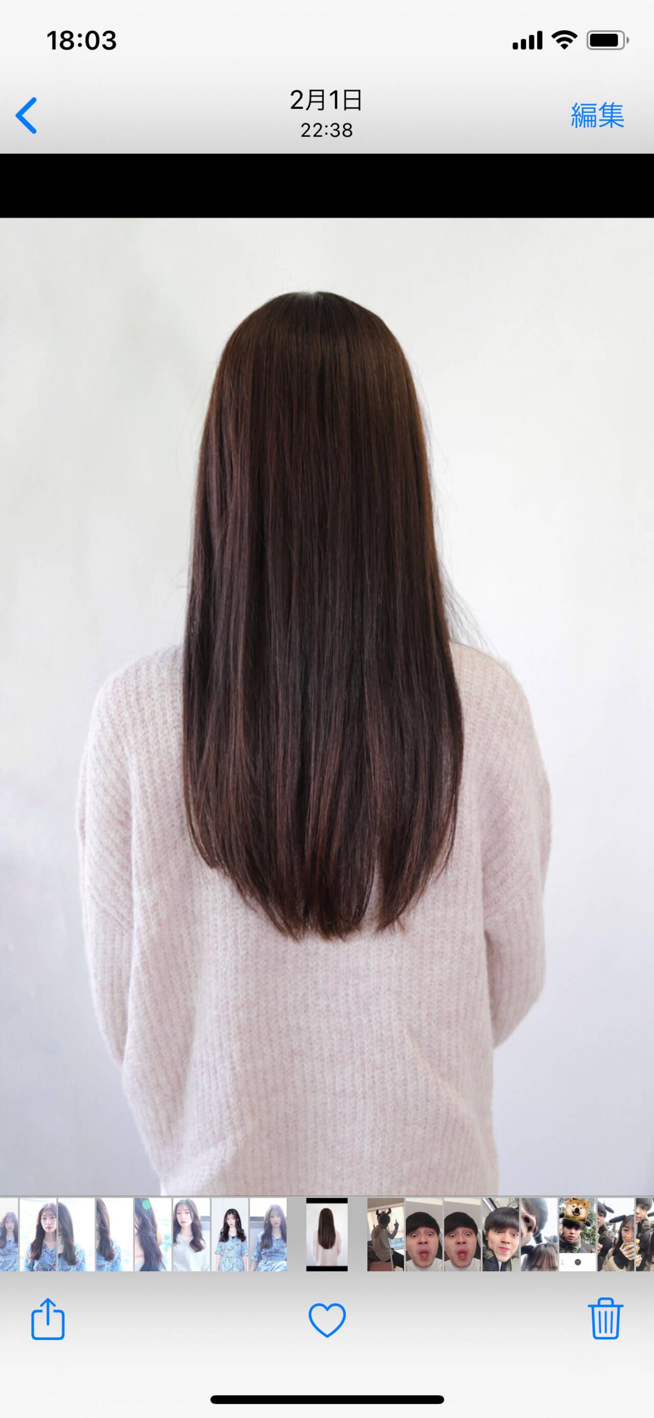 アッシュ ロング イルミナカラー ナチュラルヘアスタイルや髪型の写真・画像