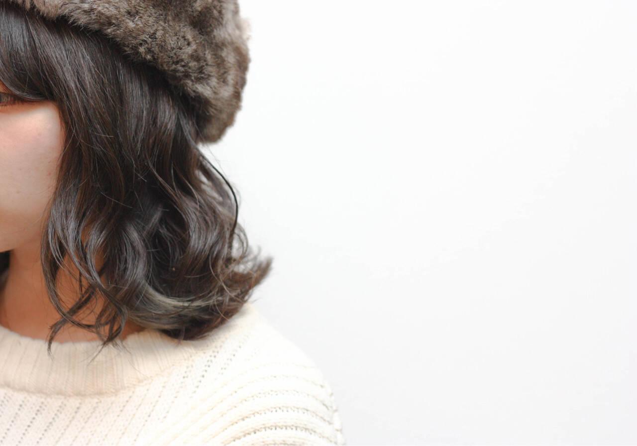 色気 ボブ グラデーションカラー アッシュヘアスタイルや髪型の写真・画像