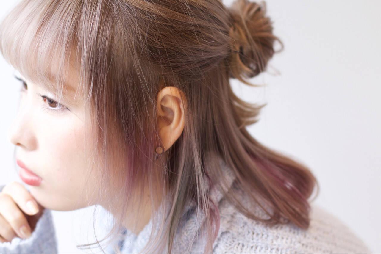 ガーリー 外国人風 ヘアアレンジ ハーフアップヘアスタイルや髪型の写真・画像