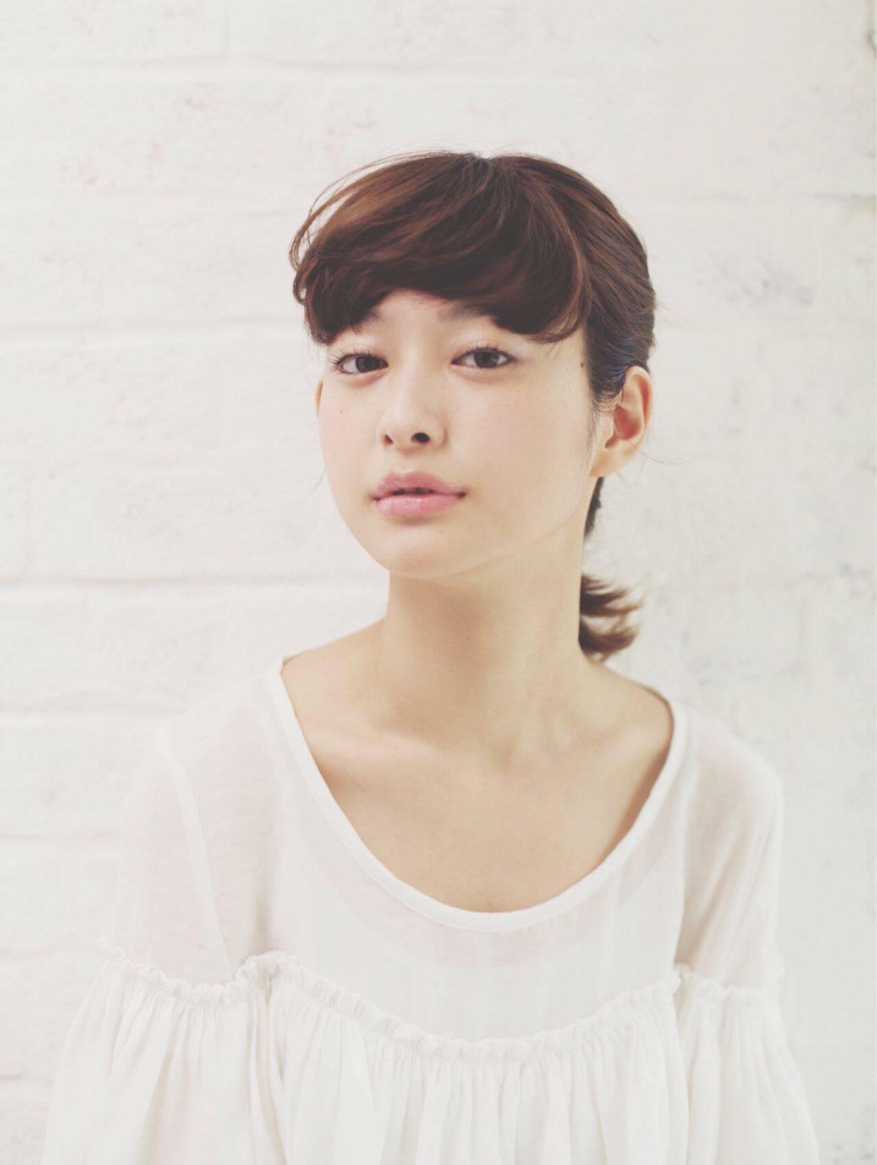 ミディアム モテ髪 ストリート ナチュラルヘアスタイルや髪型の写真・画像