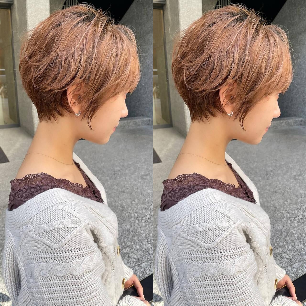 ショートヘア ナチュラル ベリーショート ショートボブヘアスタイルや髪型の写真・画像