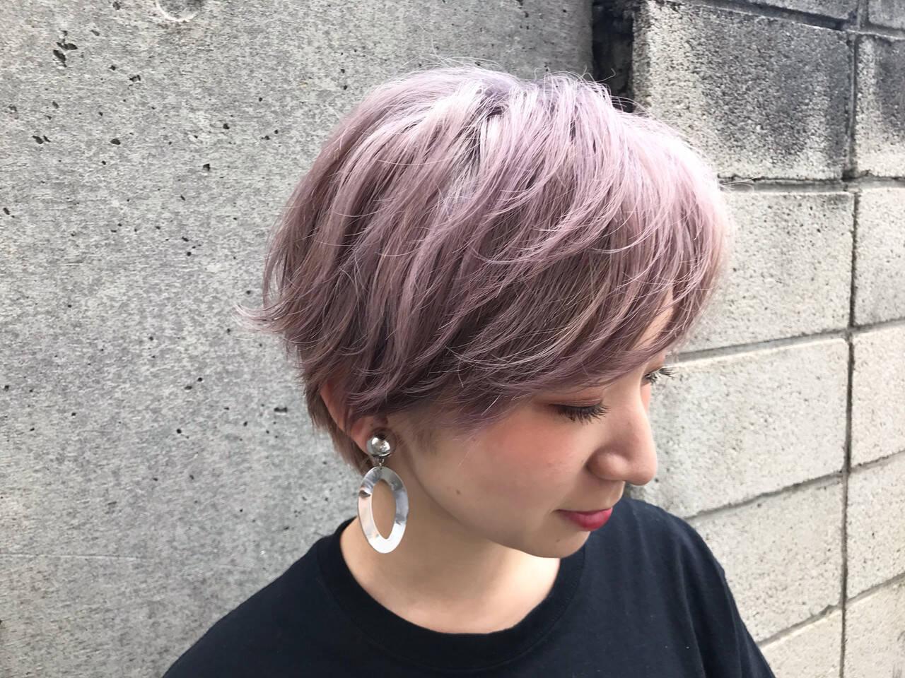 ベージュ ガーリー ミルクティー ピンクヘアスタイルや髪型の写真・画像