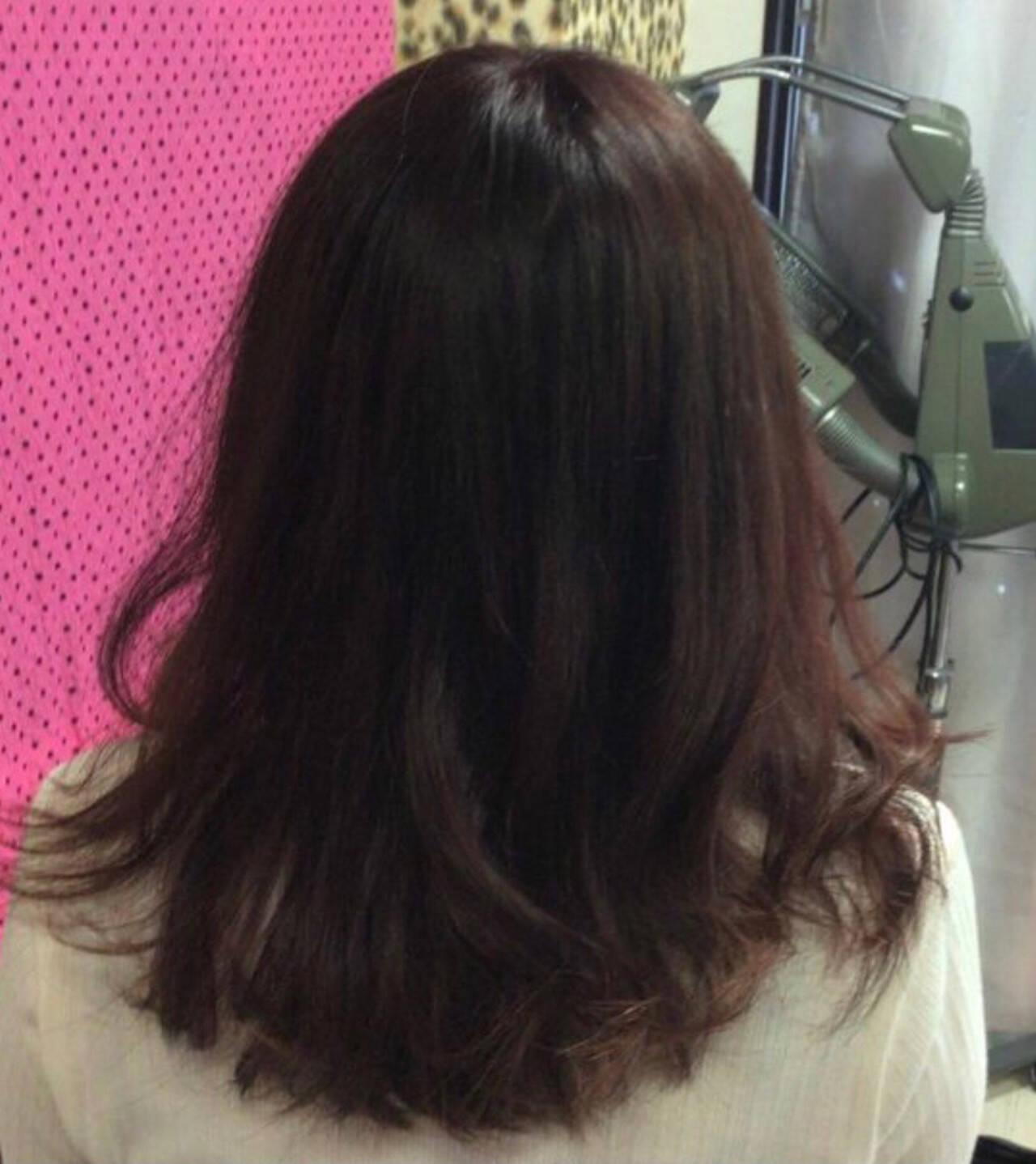 ナチュラル ピンクベージュ ピンクブラウン ロングヘアスタイルや髪型の写真・画像