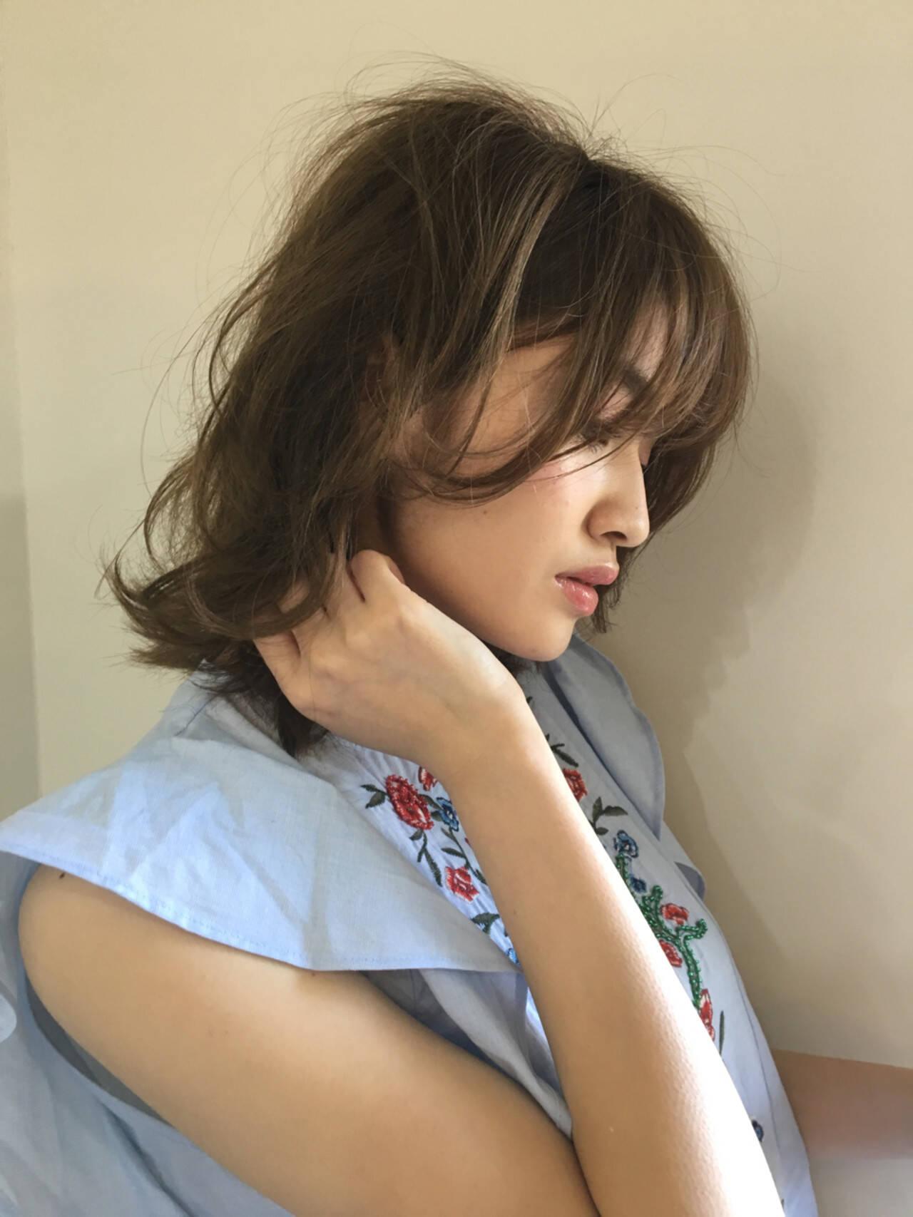 デート 女子会 パーマ ナチュラルヘアスタイルや髪型の写真・画像
