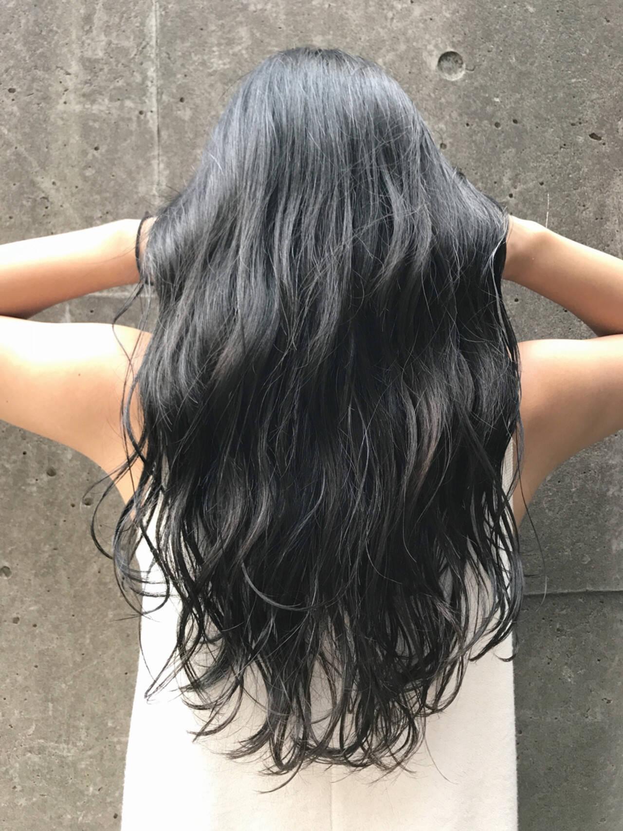 グレージュ 透明感 アッシュ ハイライトヘアスタイルや髪型の写真・画像