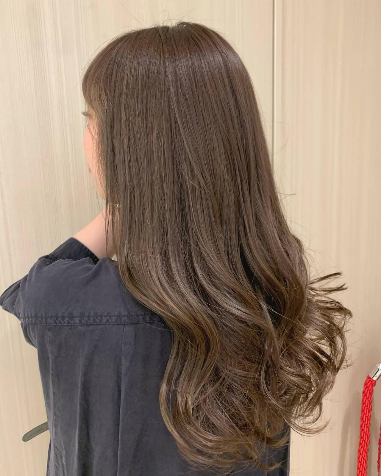 パーマ オイル オリーブベージュ デートヘアスタイルや髪型の写真・画像