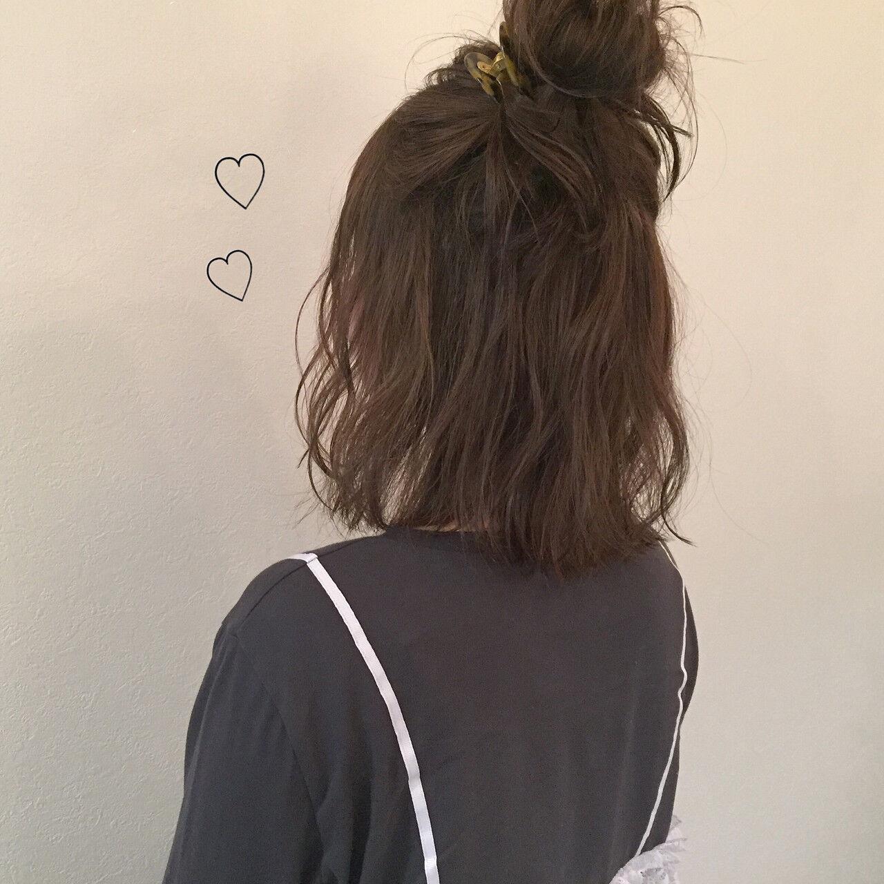 ゆるふわ ヘアアレンジ ナチュラル 簡単ヘアアレンジヘアスタイルや髪型の写真・画像