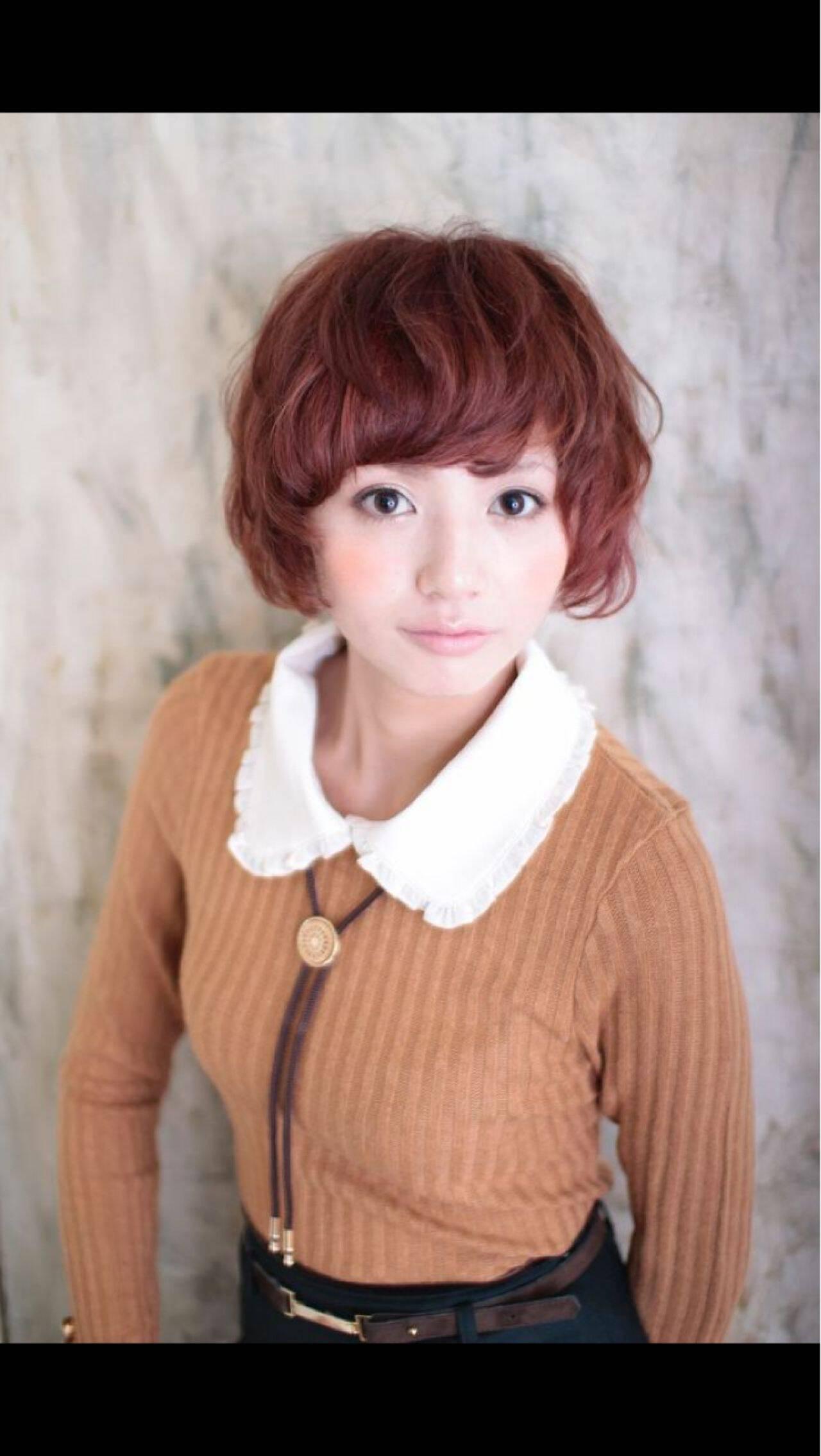 パーマ フェミニン モテ髪 秋ヘアスタイルや髪型の写真・画像