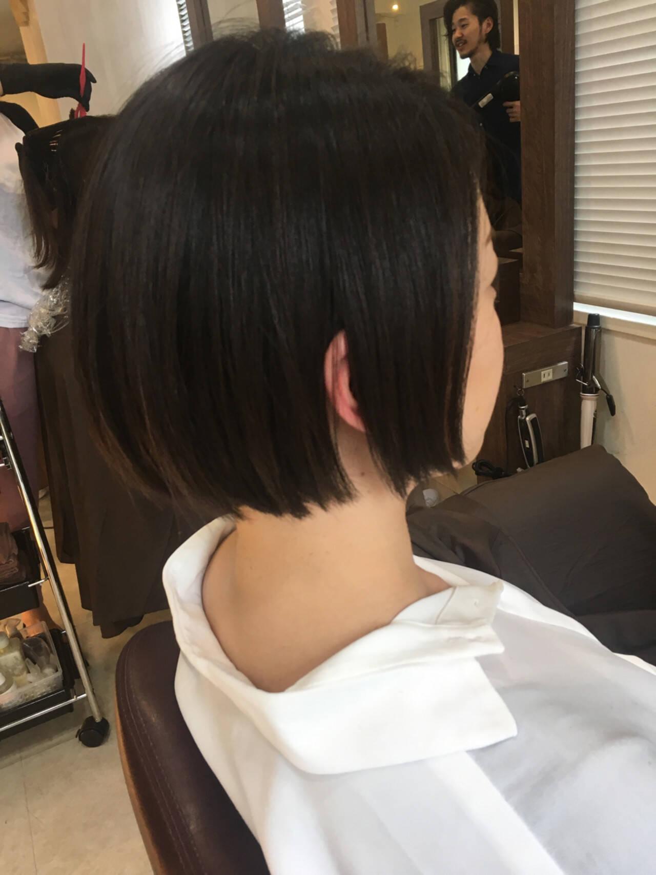 大人かわいい こなれ感 ボブ ウェットヘアヘアスタイルや髪型の写真・画像