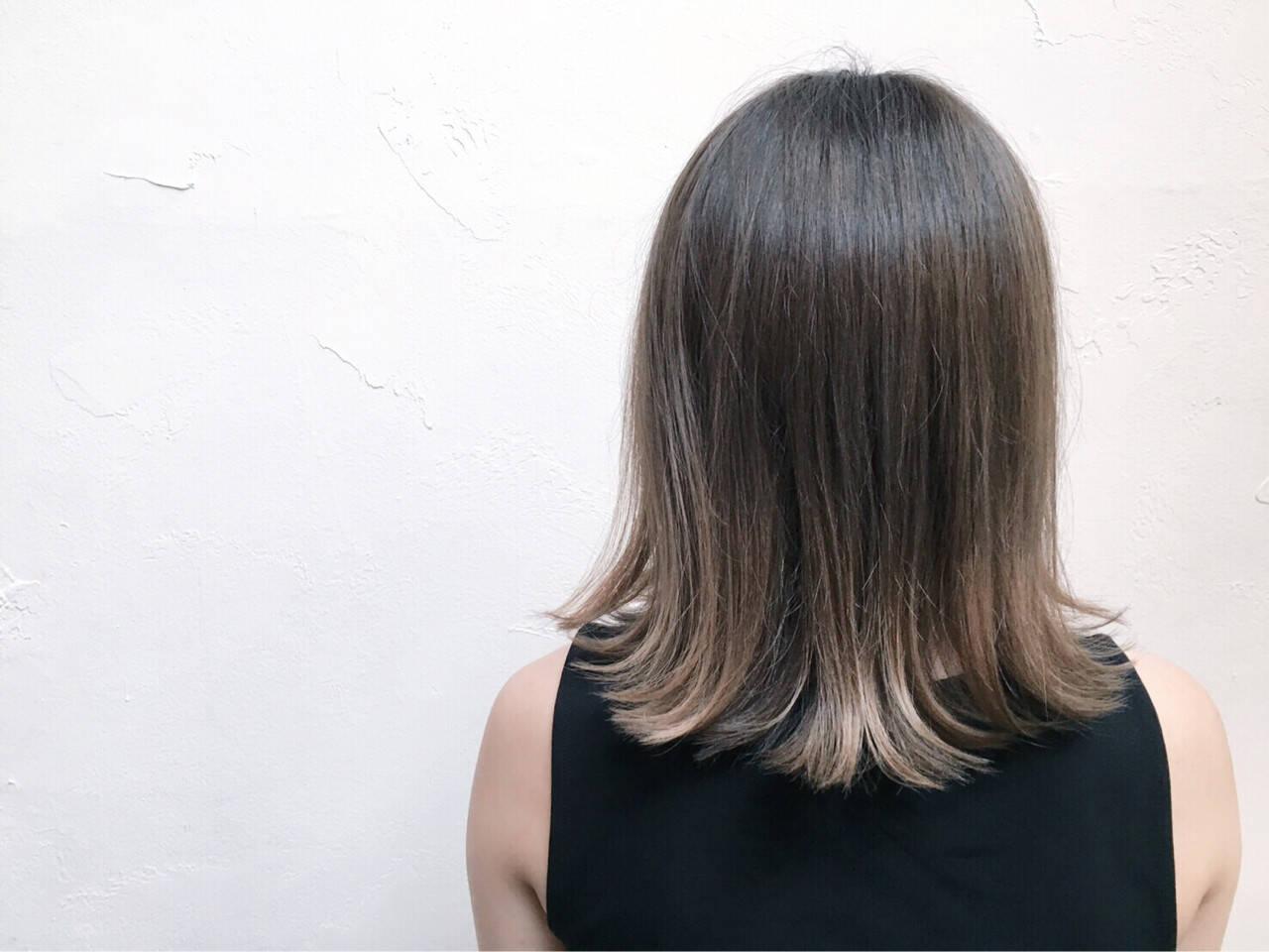 グラデーションカラー 外国人風 ボブ アッシュヘアスタイルや髪型の写真・画像