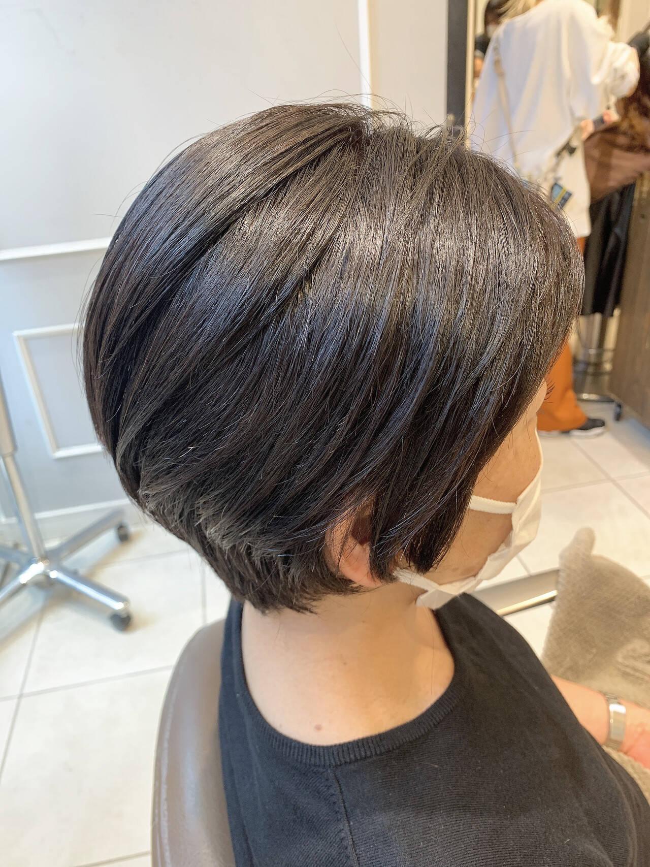透明感カラー ベリーショート ショートヘア モードヘアスタイルや髪型の写真・画像