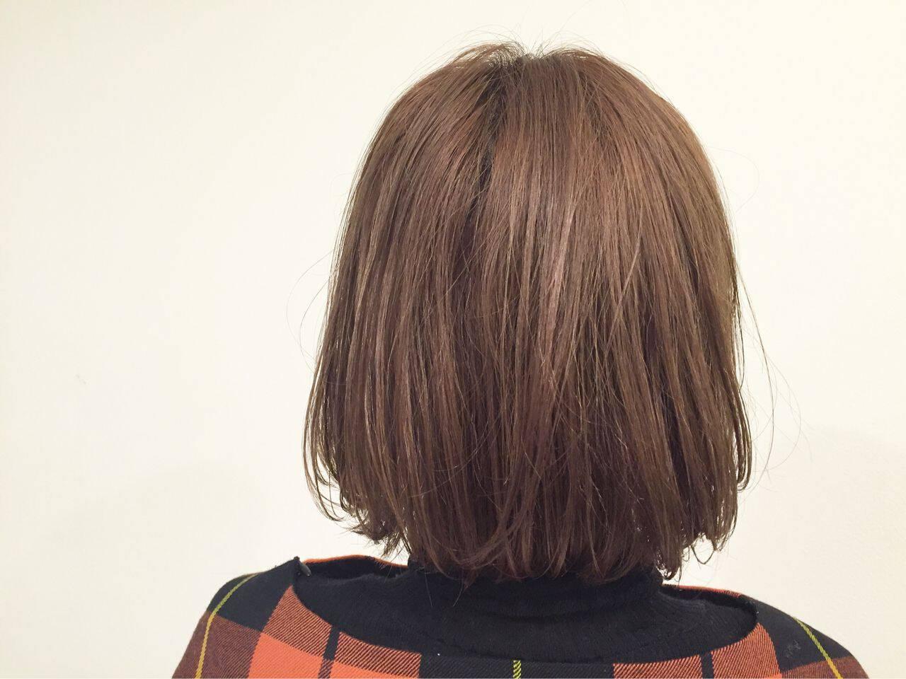 外国人風 グラデーションカラー ウェットヘア ボブヘアスタイルや髪型の写真・画像